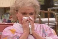 grandma blowing her nose
