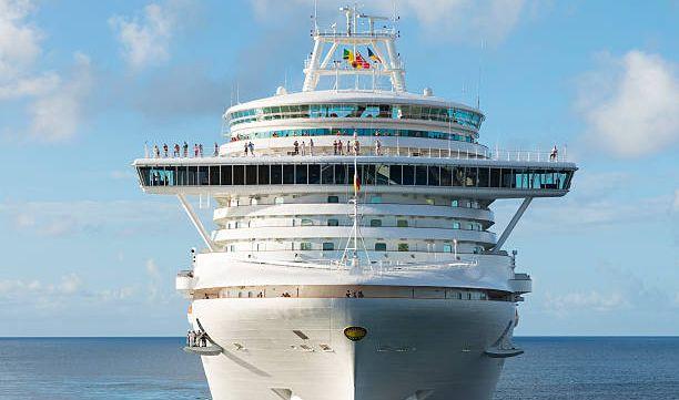 cruise boat at sea