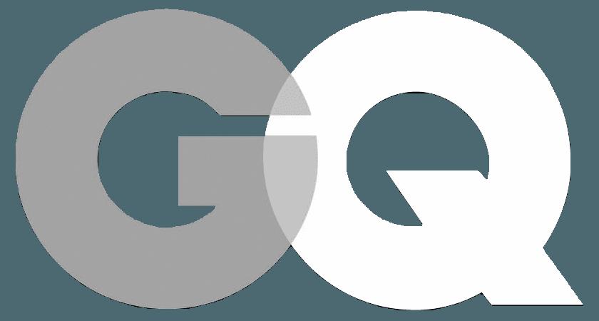 GQ Magazine logo in black and white