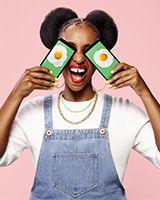 image de Simon Duhamel pour Fizz : jeune femme aux yeux d'oeufs mirroirs