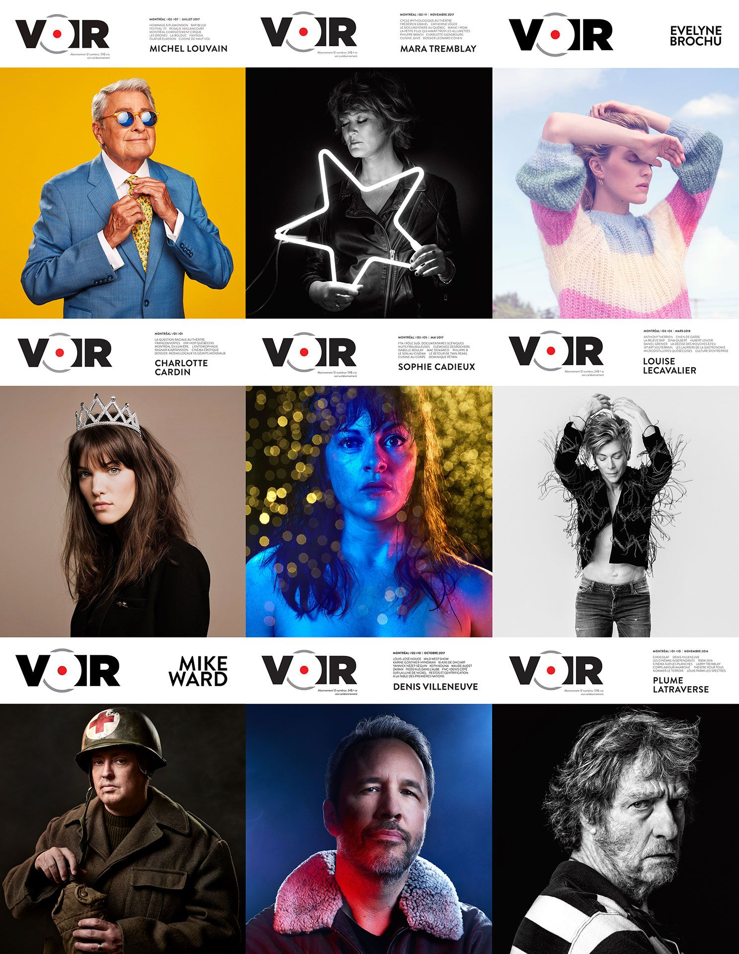 Voir magazine layouts shot by Jocelyn Michel