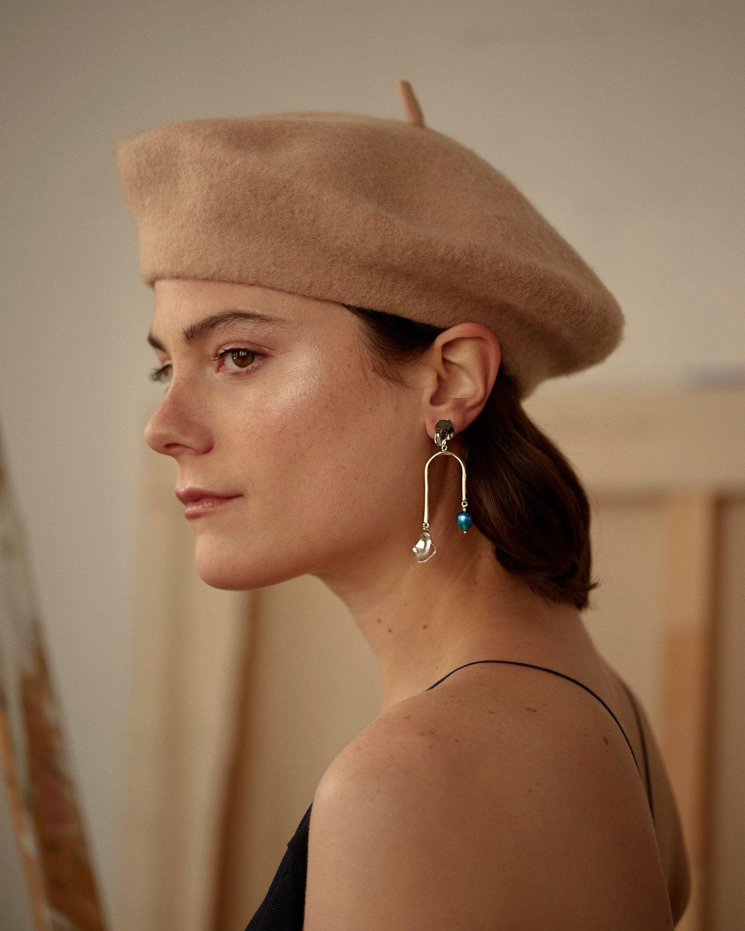 woman wearing earing by Nina.Nanas by Maxyme G Delisle