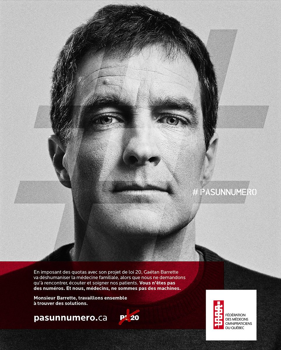 poster middle aged man by Jocelyn Michel for FMOQ