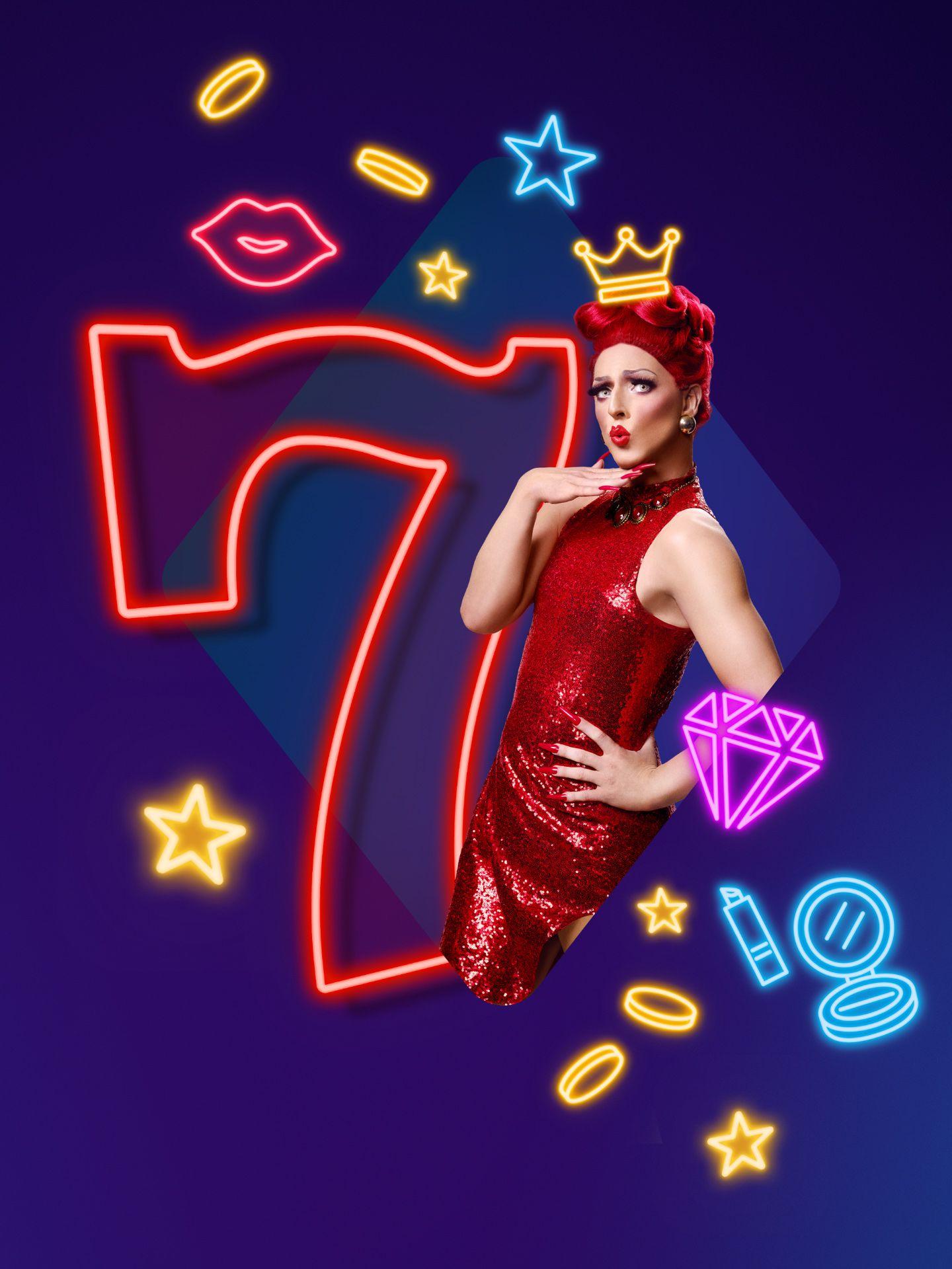 La dragqueen Gysèle pose en robe rouge pour le photographe Jocelyn Michel