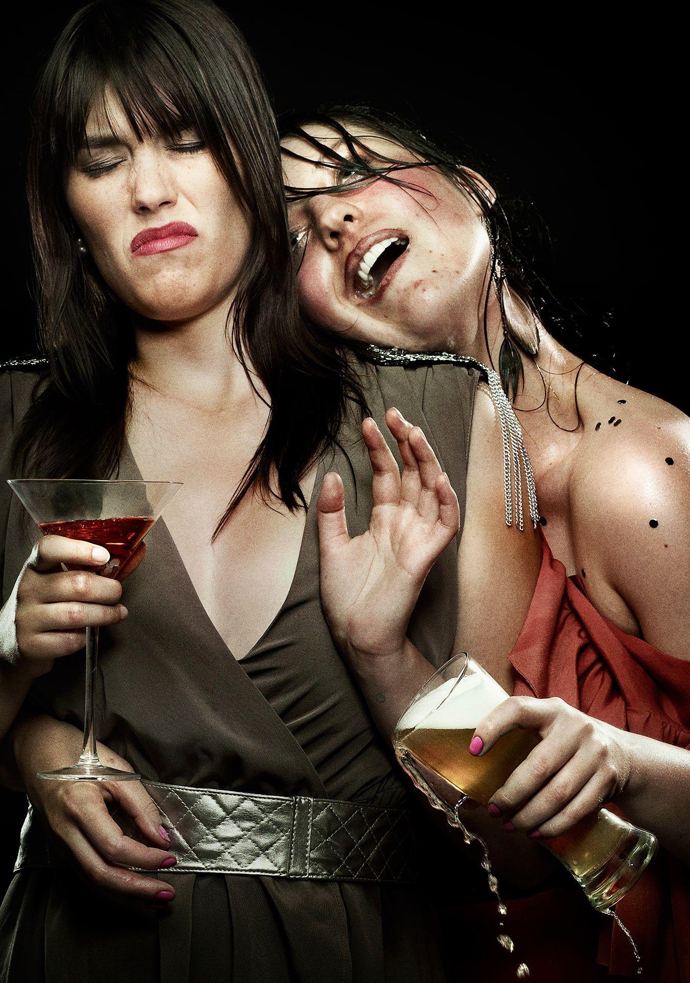 drunk girls for Educalcool campaign by Jocelyn Michel