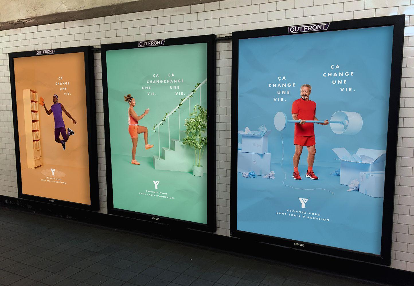 mockup of YMCA campaign poster by Jocelyn Michel