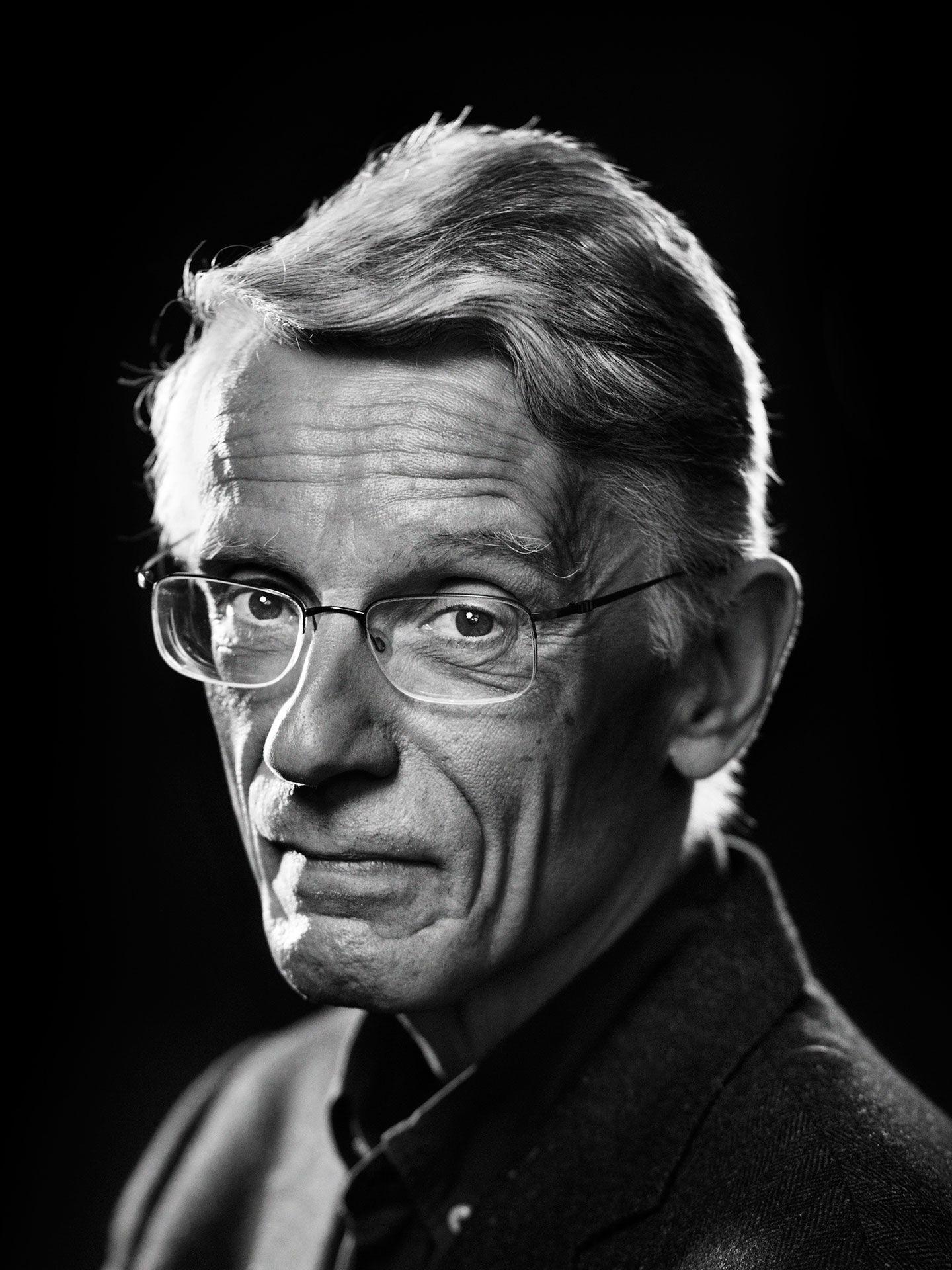Black and white portrait of Bernard Emond by Jocelyn Michel.