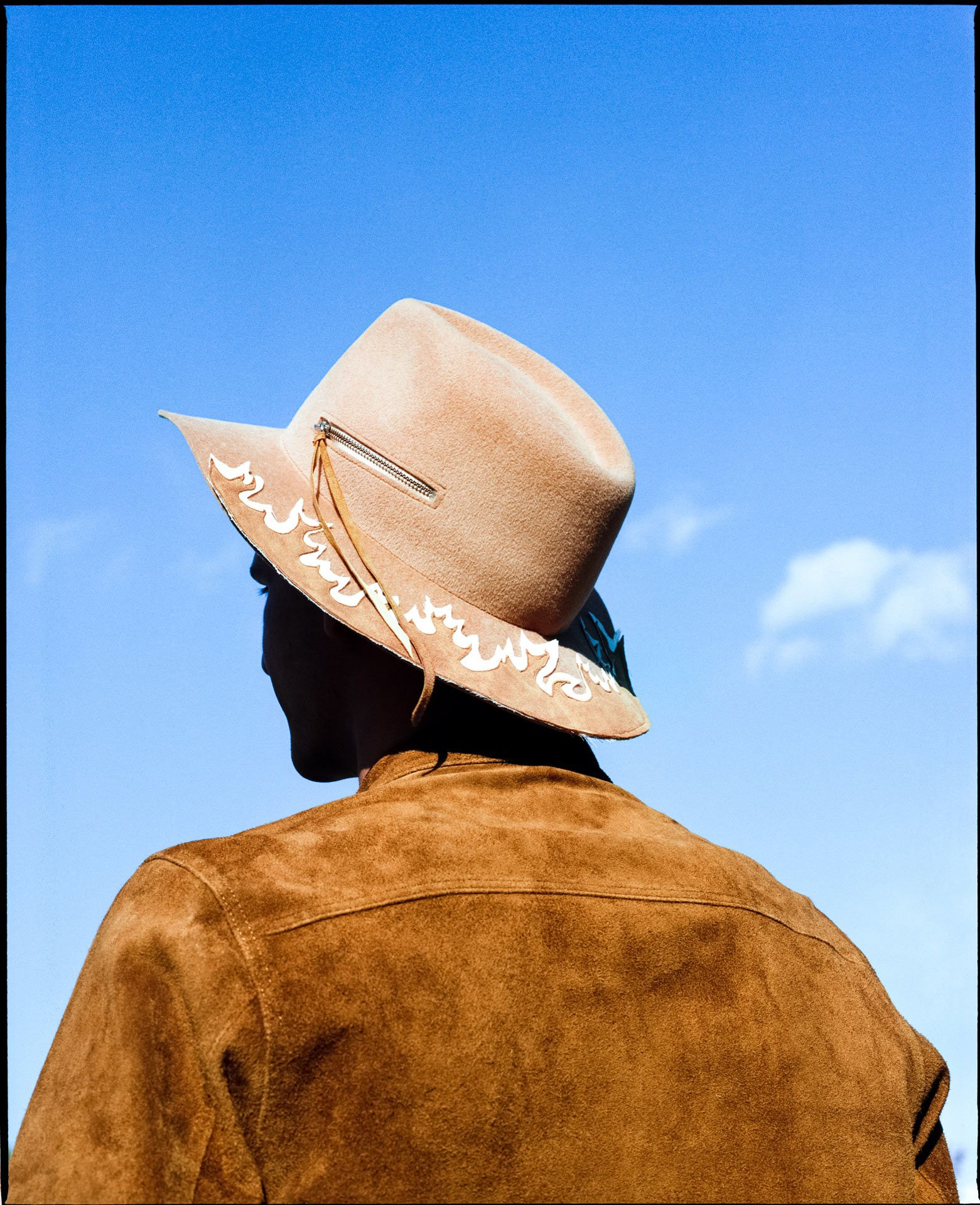 cowboy turned around by Alexi Hobbs for Larose Paris in St-Tite