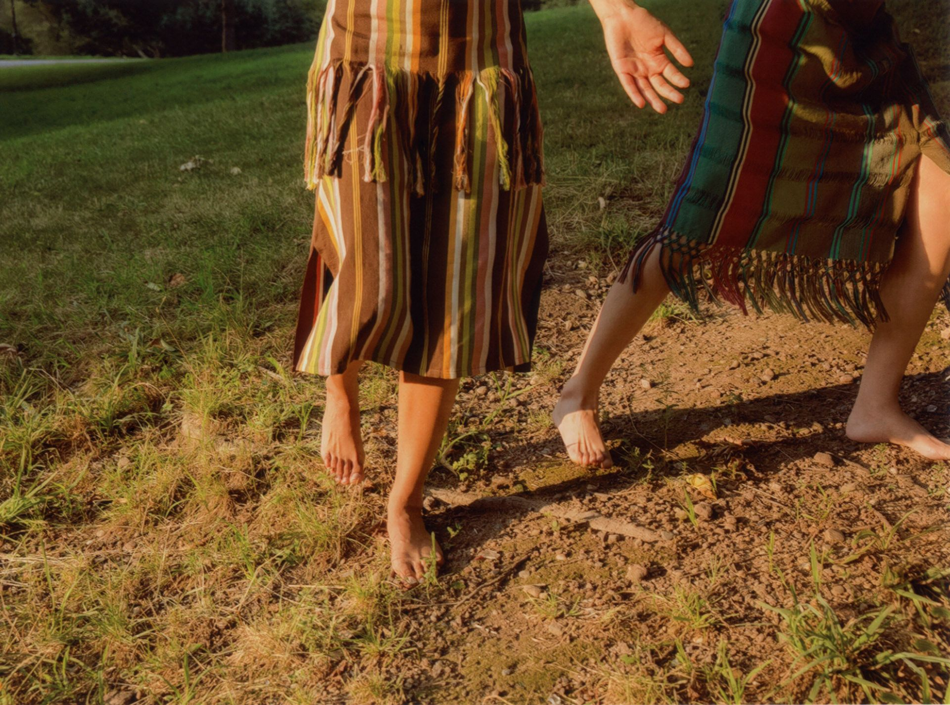 legs of models in nature by Oumayma B Tanfous for Sustainability Emerging Designers in Flaunt Magazine