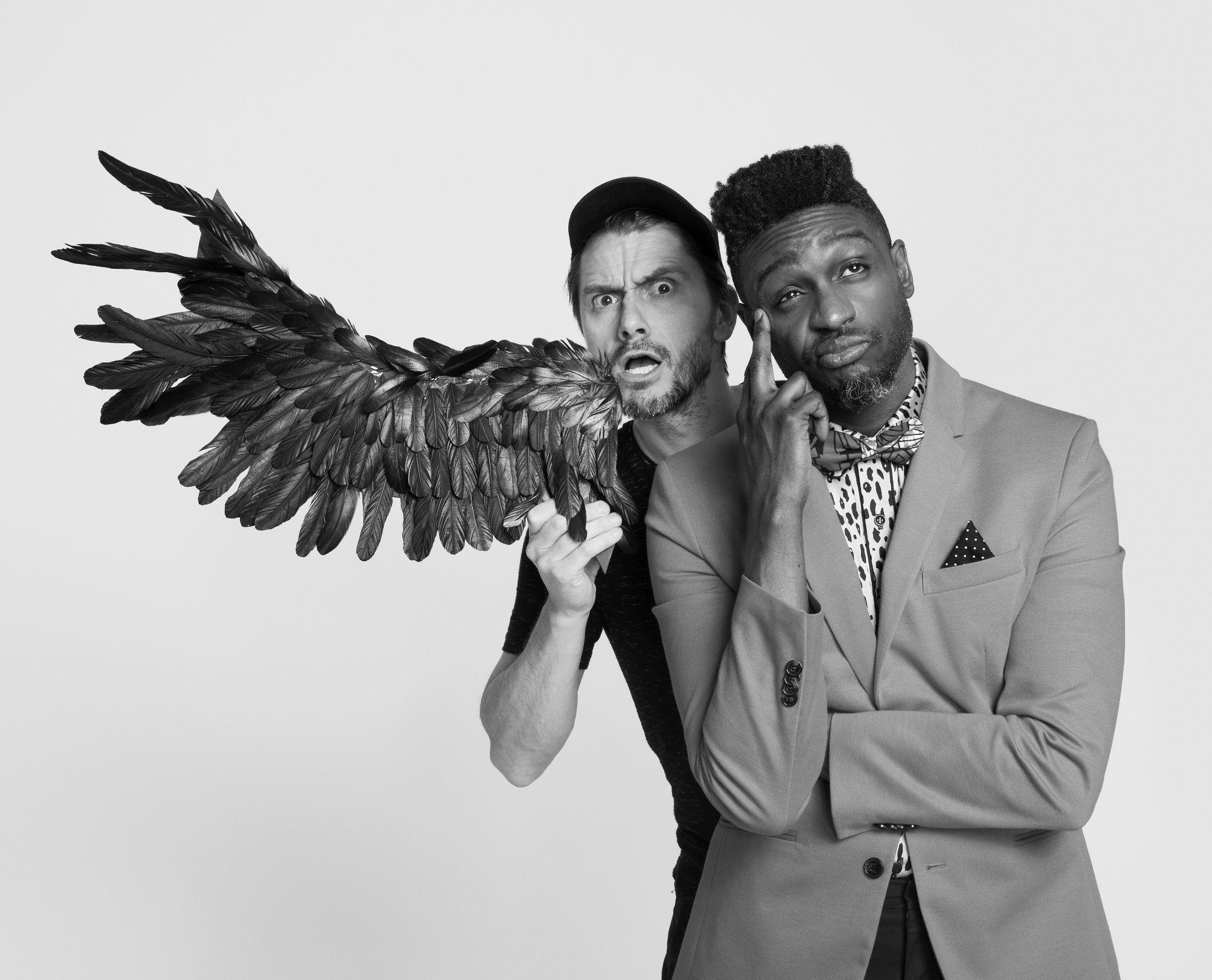 Photo du chanteur Corneille avec le photographe Jocelyn Michel