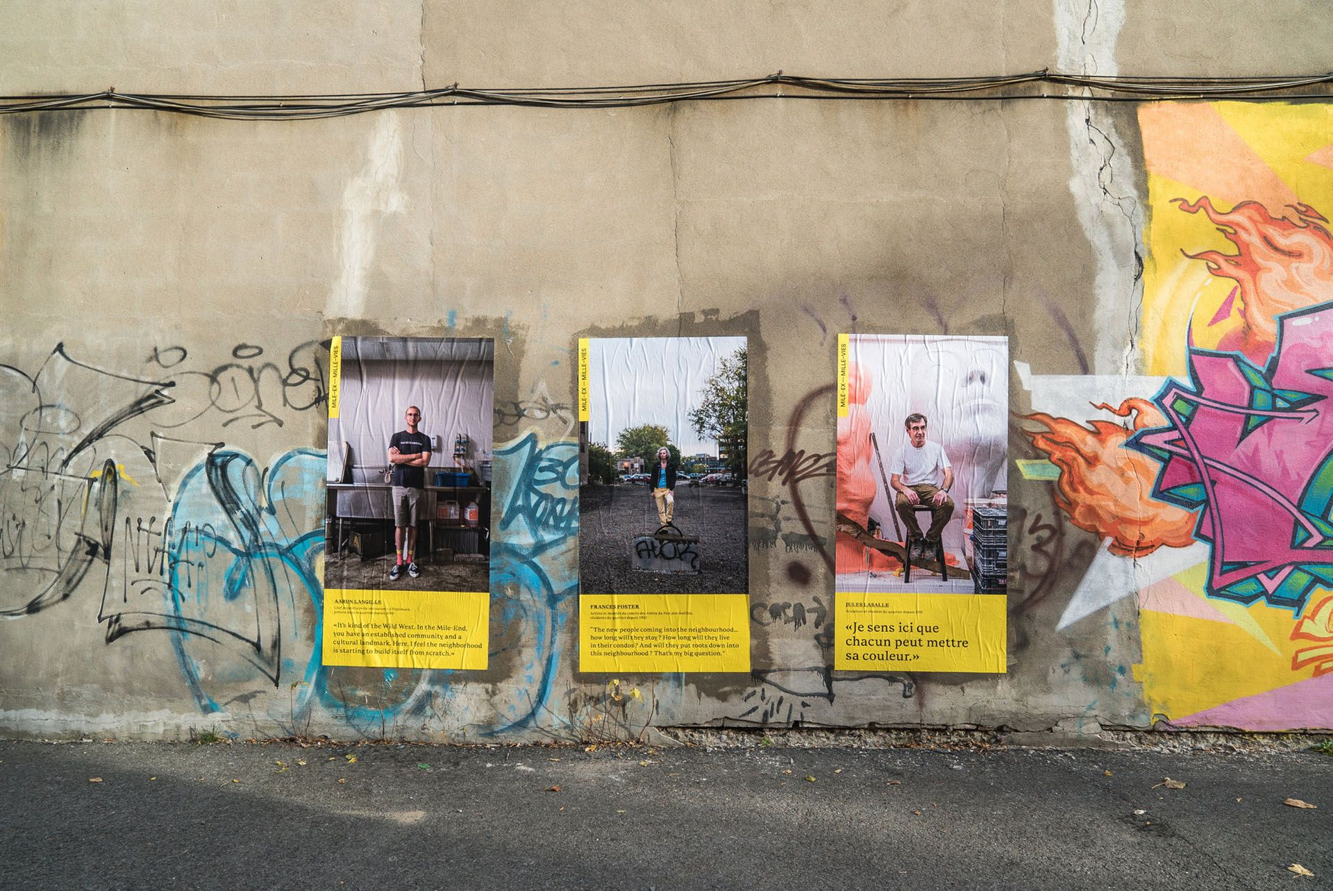 Bruno Florin mile ex mille vie street display