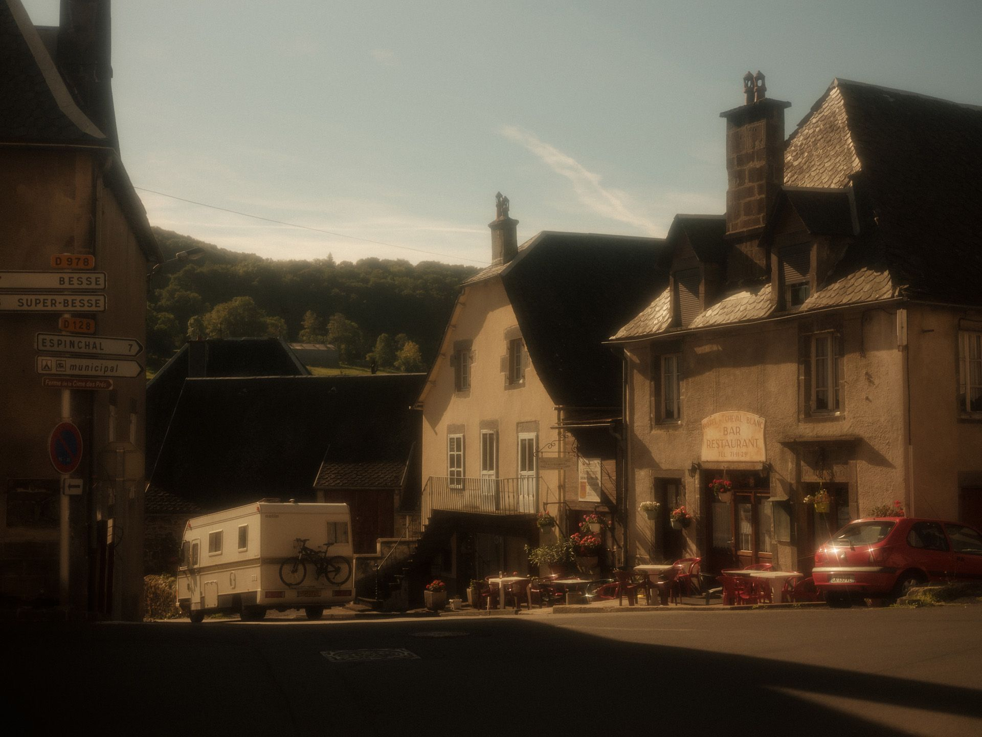 view of inside a village in Auvergne by Alexi Hobbs for Reflets de France