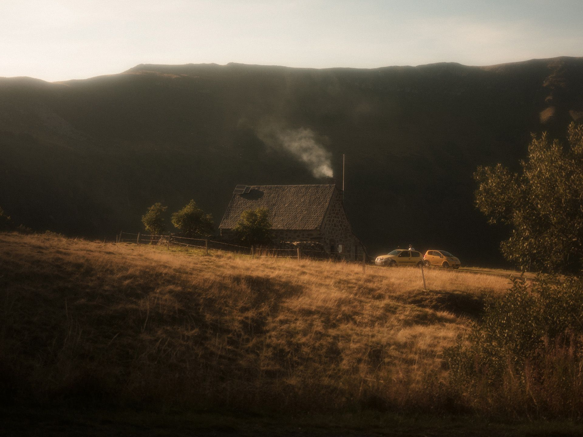 little stone farm house in french countryside by Alexi Hobbs in Auvergne for Reflets de France