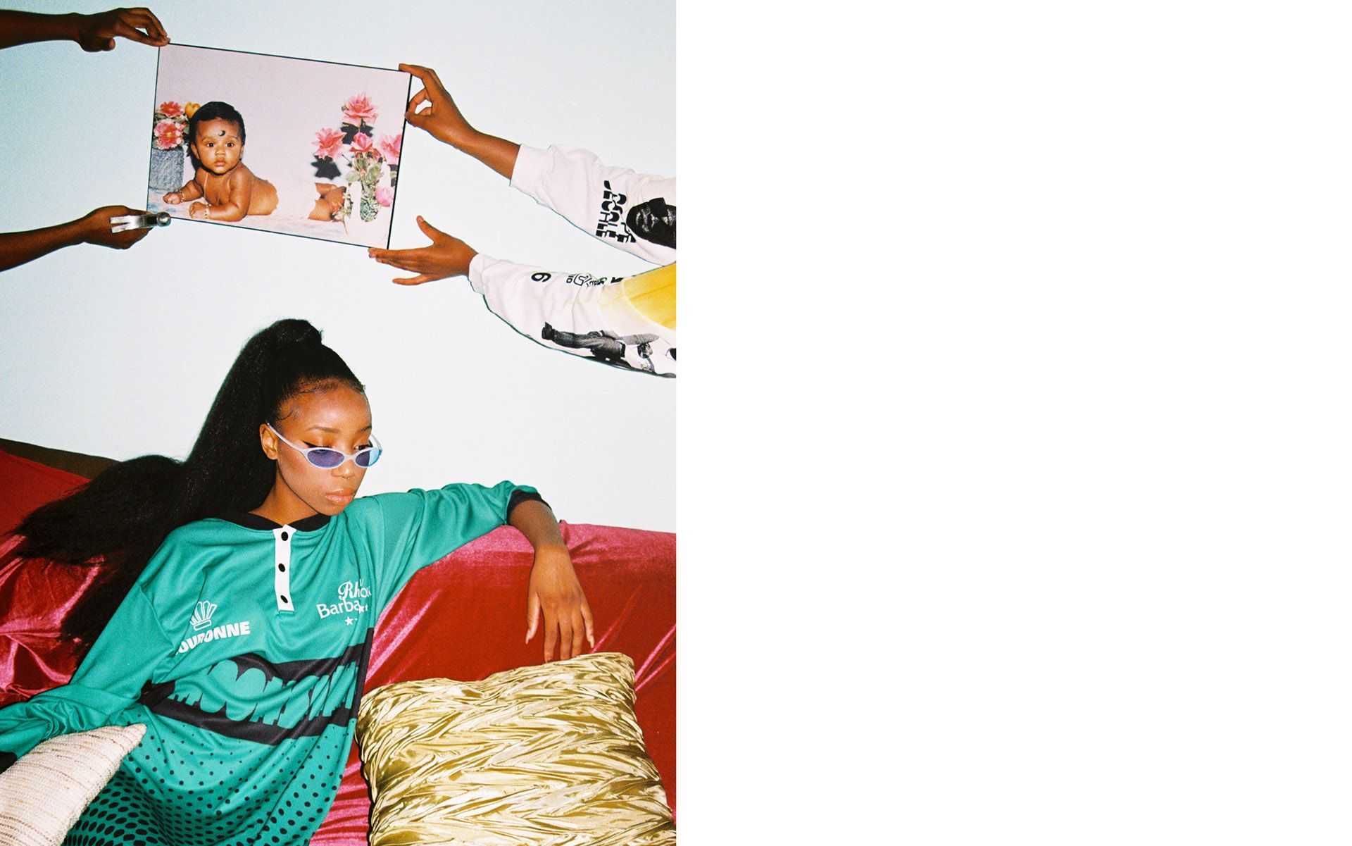 black girl model by Oumayma B Tanfous for Moonshine international sapologie with Nataal