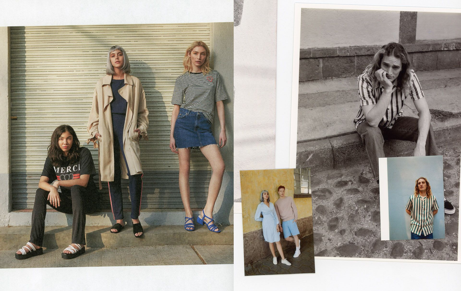 polaroid of models by Oumayma B Tanfous for Little Burgundy in Mexico