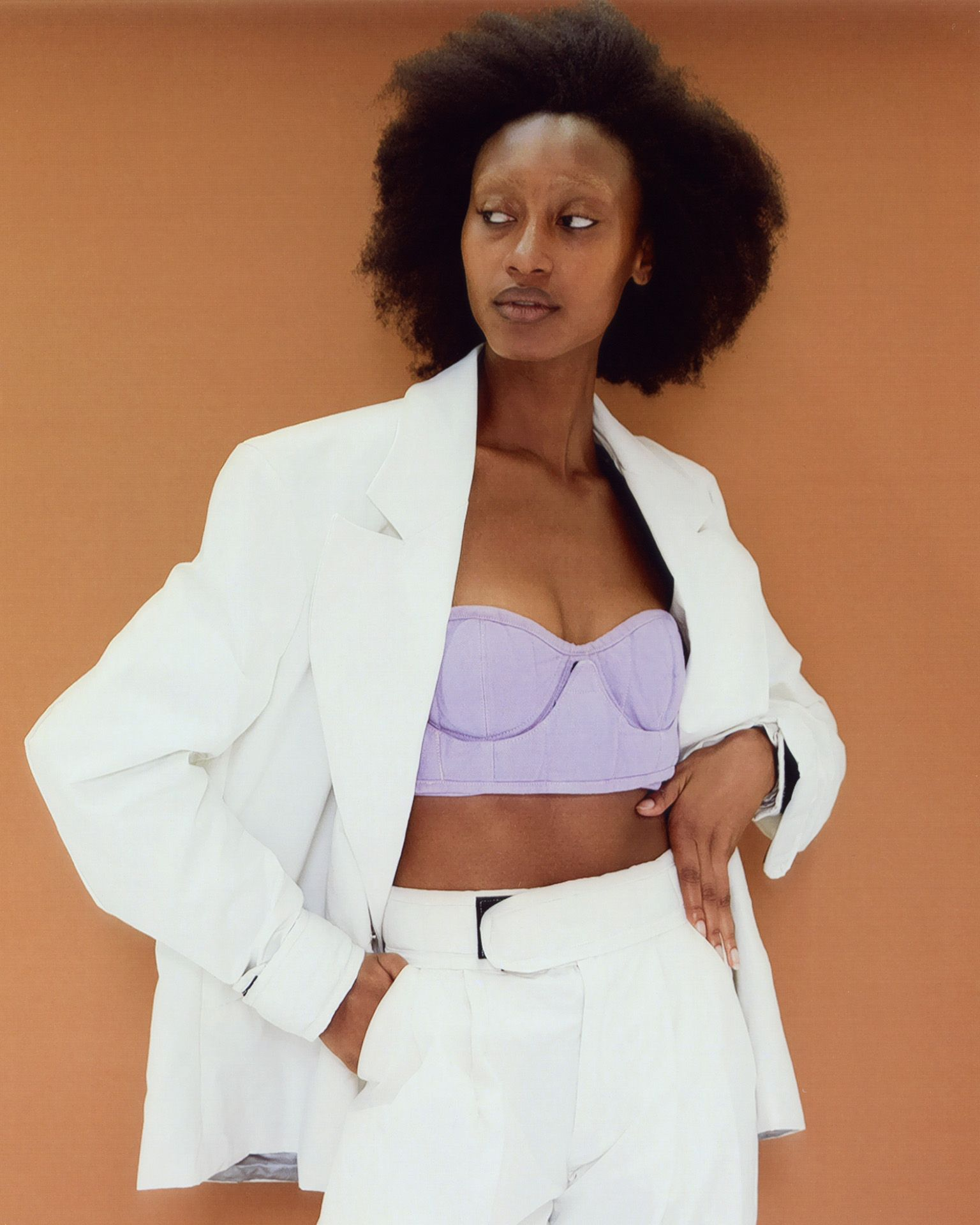 black female model with afro by Oumayma B Tanfous for Document Journal Barragannnn casting summer spring 2020