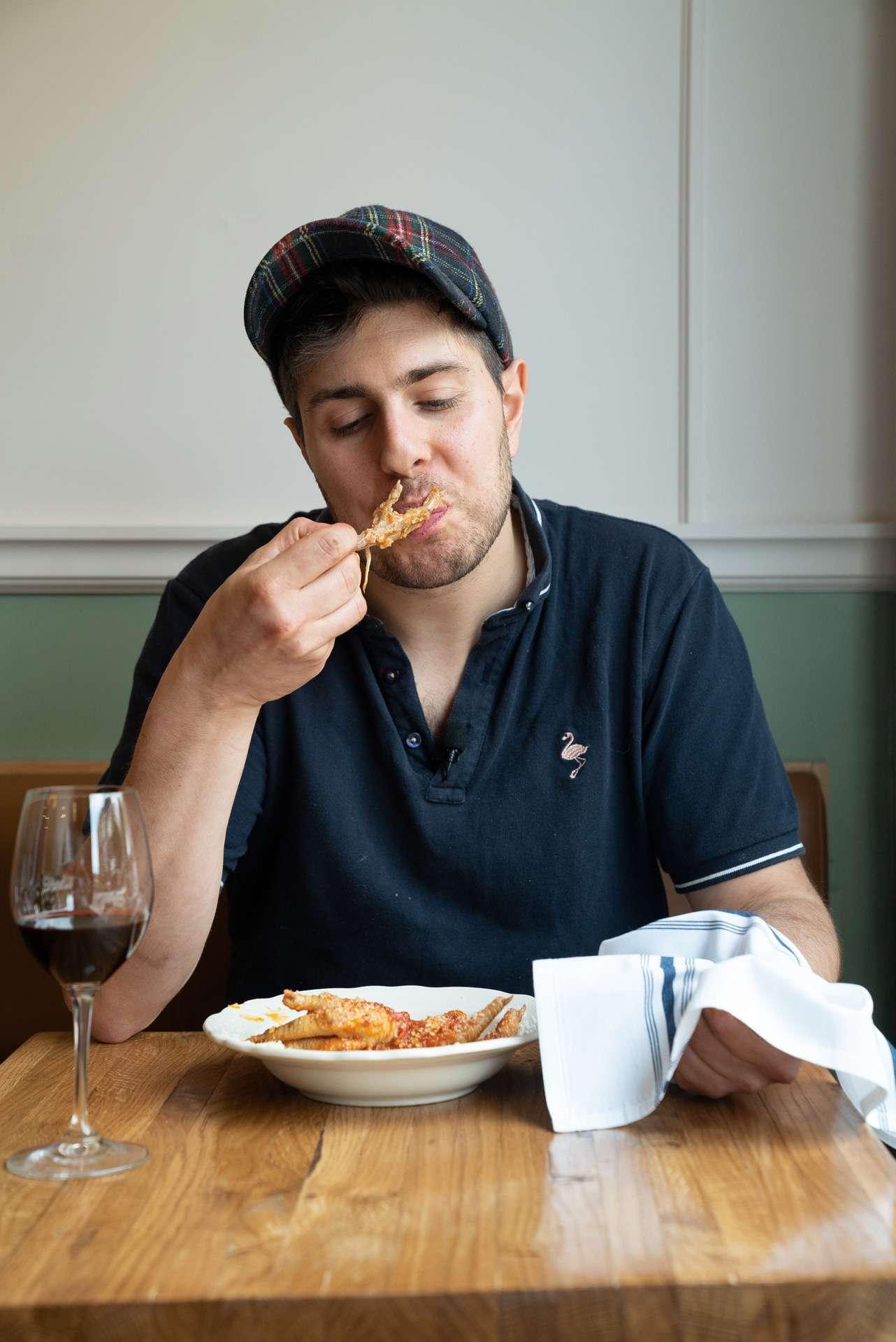 portrait of chef Luca Cianciulli at Moccione restaurant by Bruno Florin