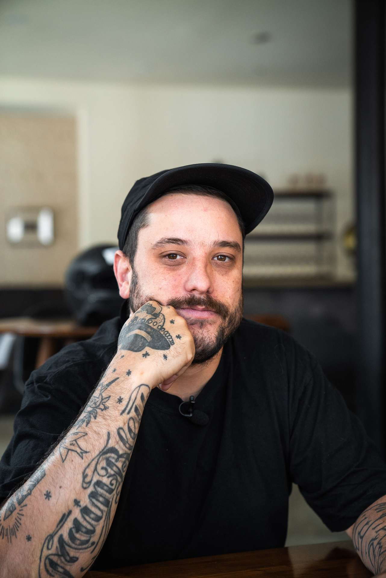 portrait of chef Antonin Mousseau from Le Mousso restaurant by Bruno Florin