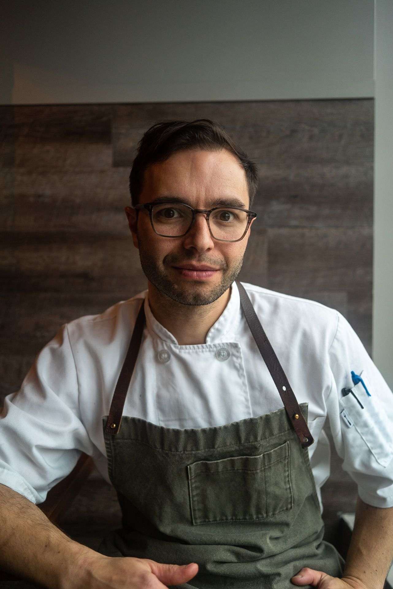 portrait of chef Patrice Demers by Bruno Florin
