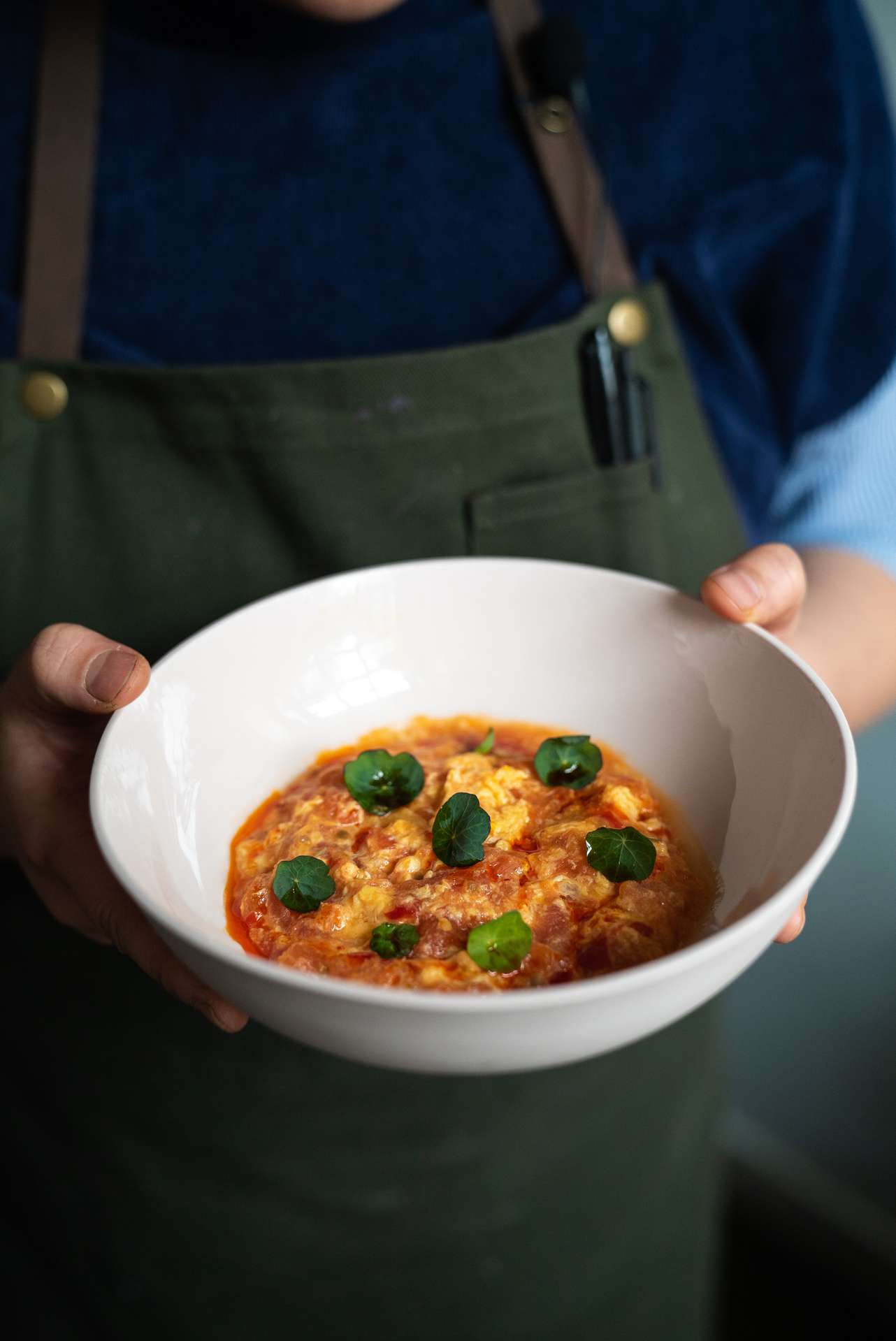 picture of chef Anita Feng childhood dish chef of Candide restaurant by Bruno Florin