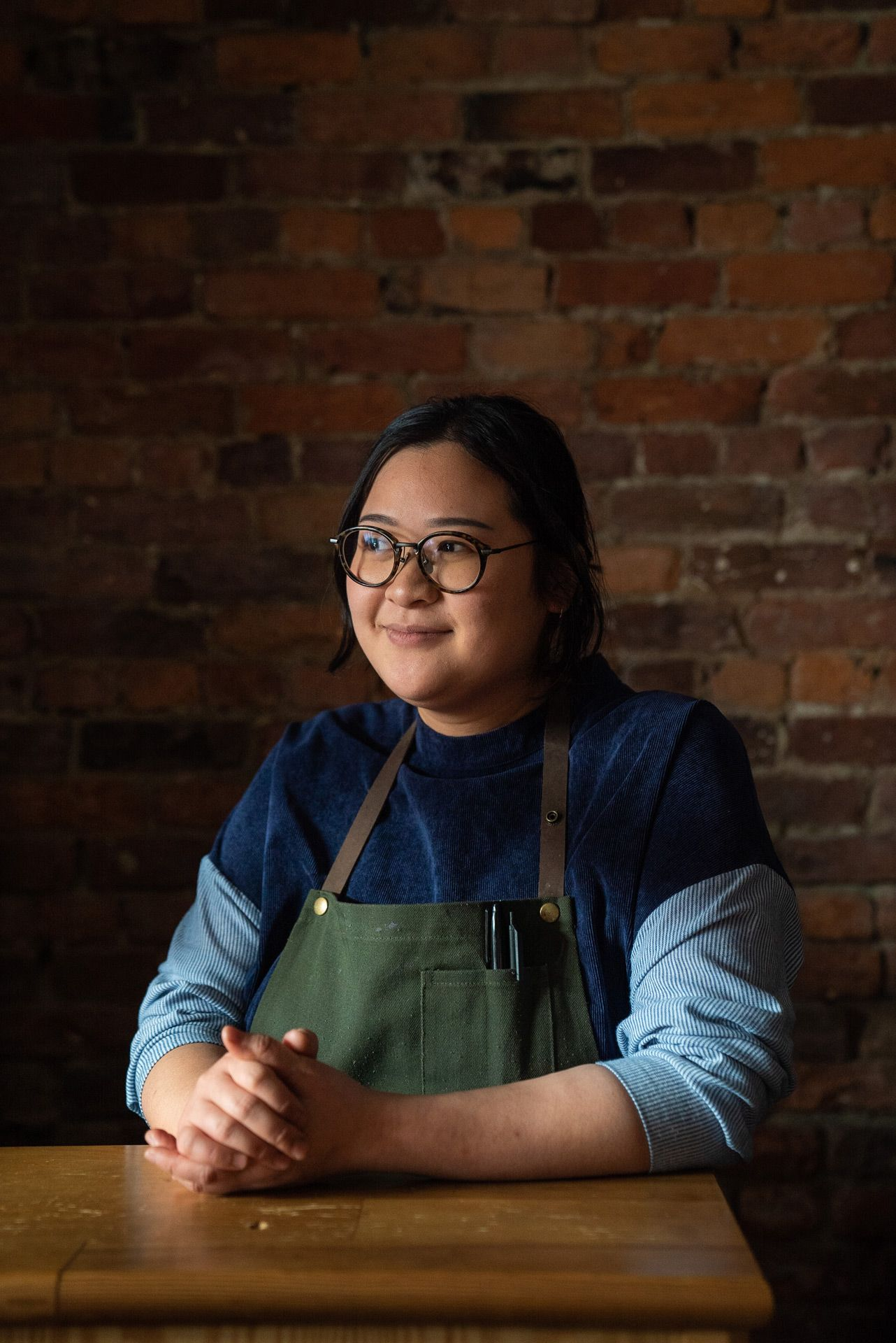 portrait of Anita Feng chef at Candide restaurant by Bruno Florin