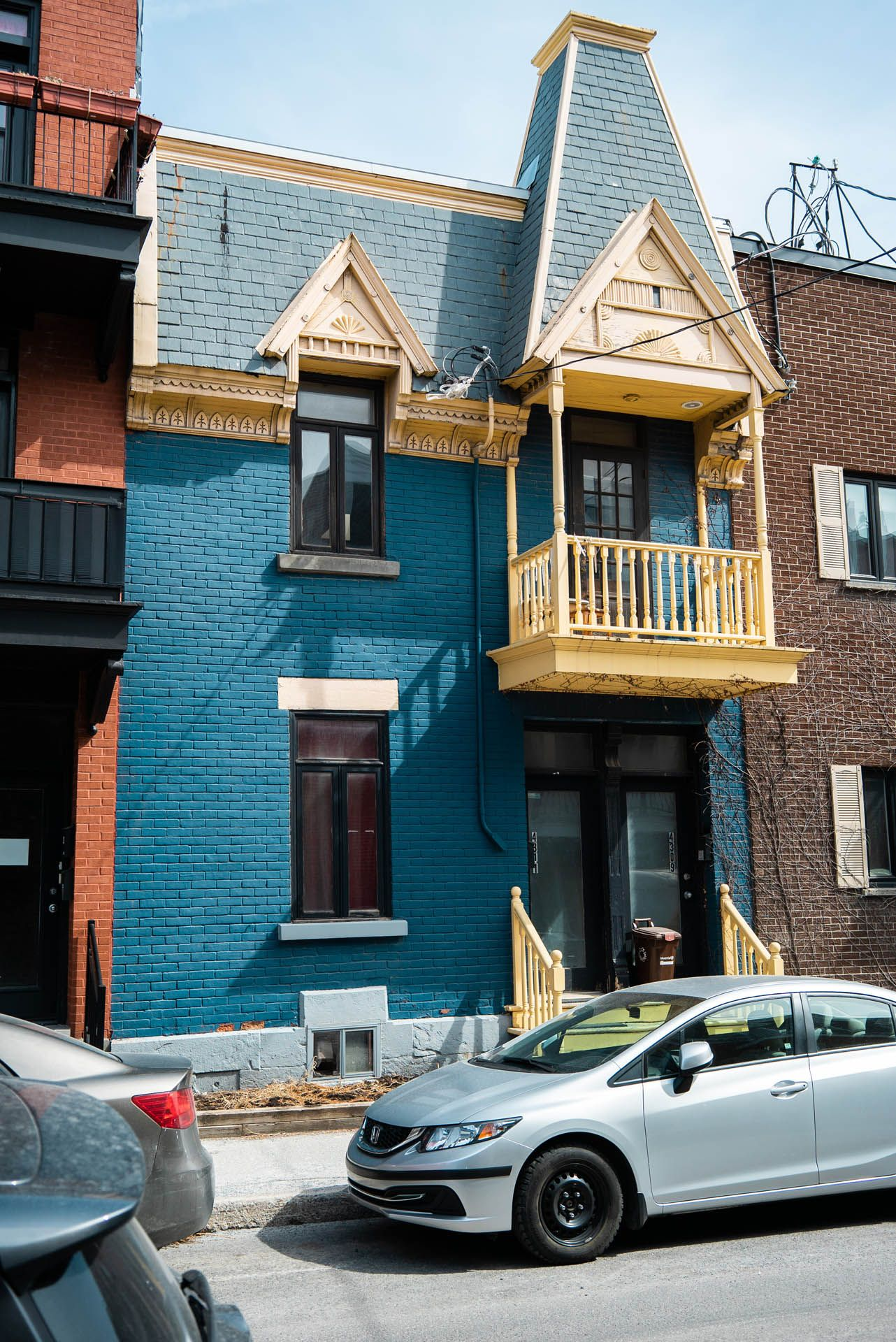 cute typical Montreal houses by Bruno Florin