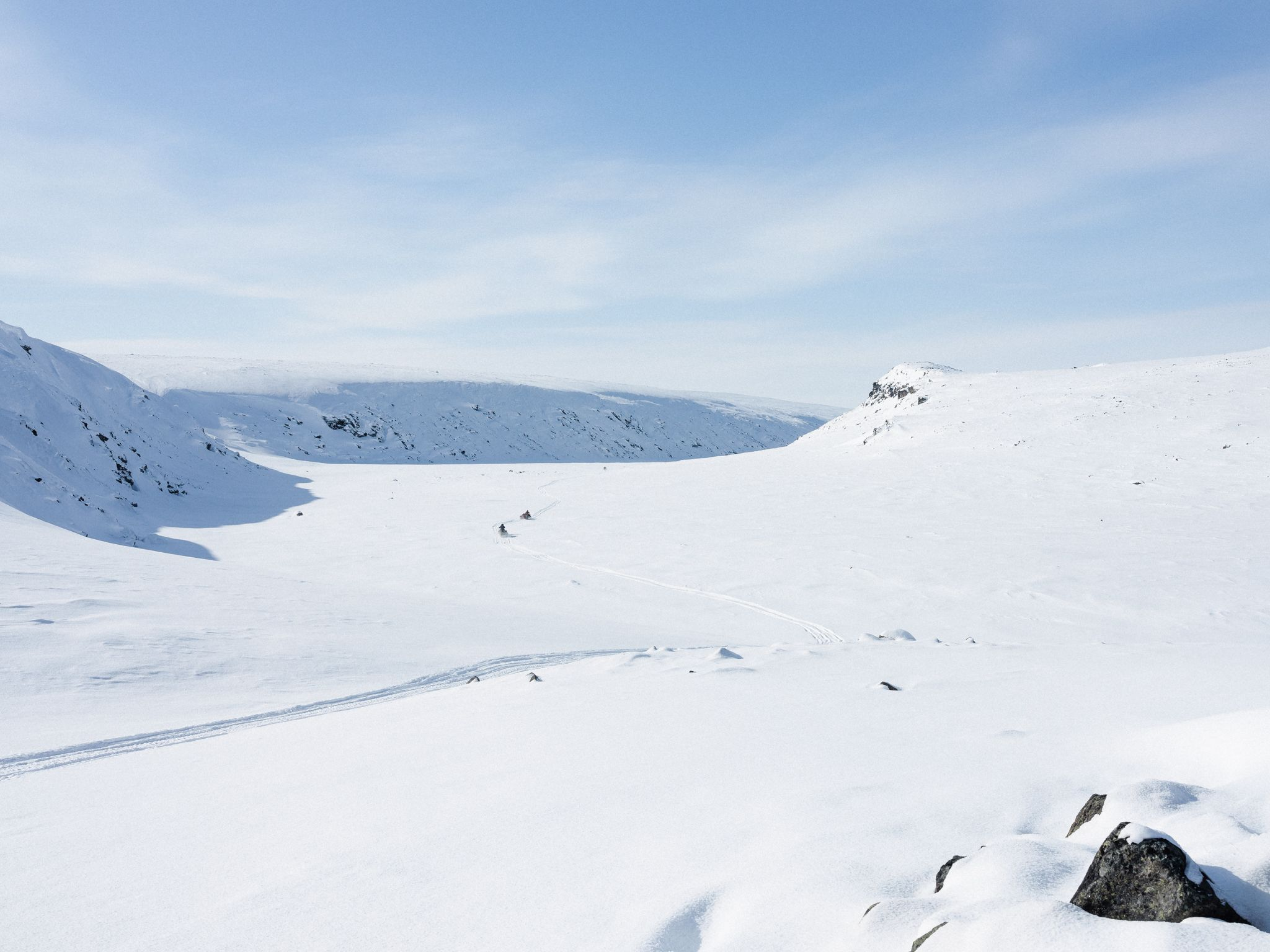 snow slopes in Nunavik by Alexi Hobbs for Air Inuit