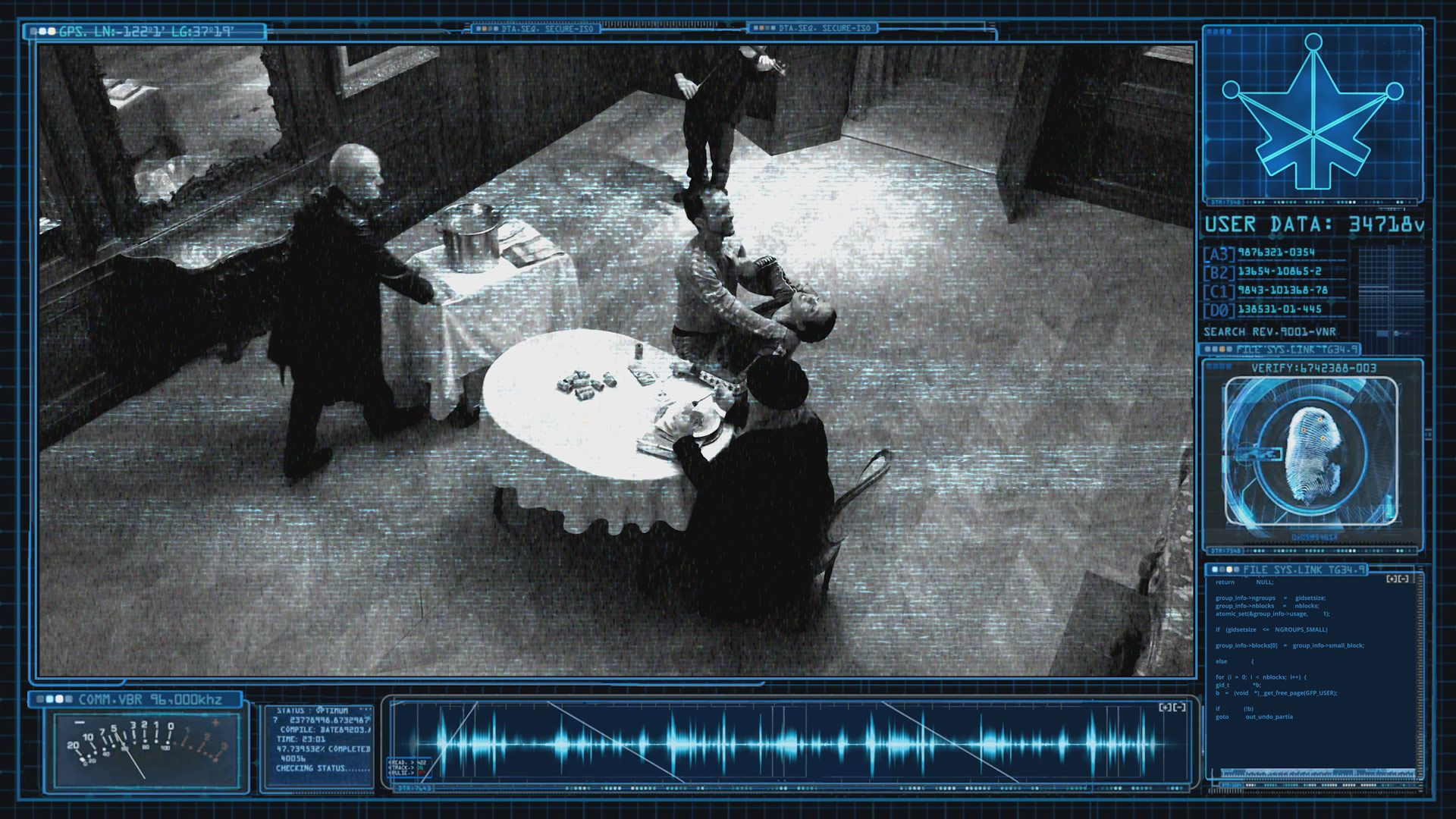 screenshot of fake CCTV for TV series La Loi C'est La Loi filmed by Les Gamins for TV5 Unis