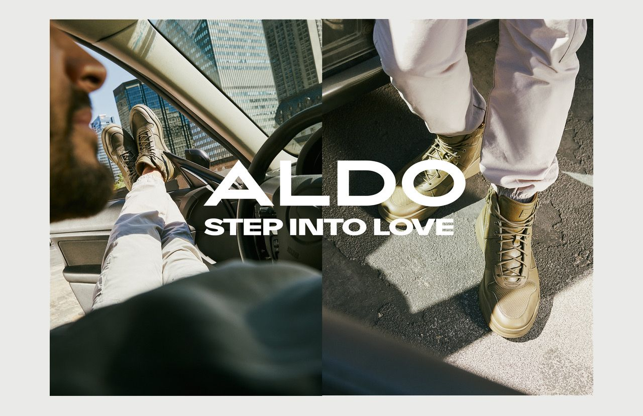 Picture of clear boots worn by models in a car