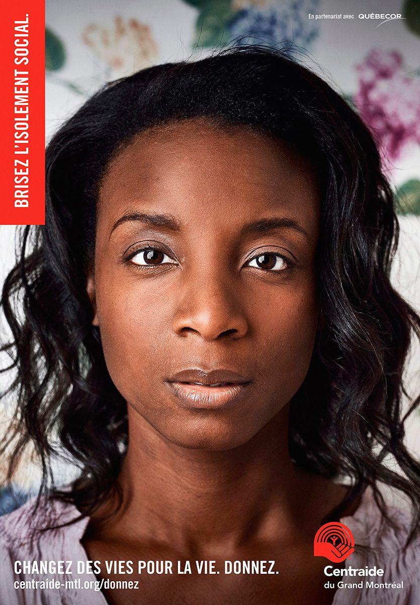 black woman poster by Jocelyn Michel for Centraide