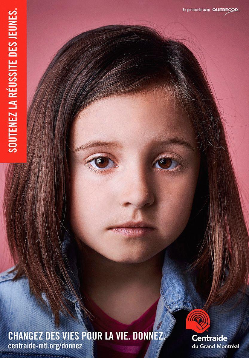 little girl poster by Jocelyn Michel for Centraide
