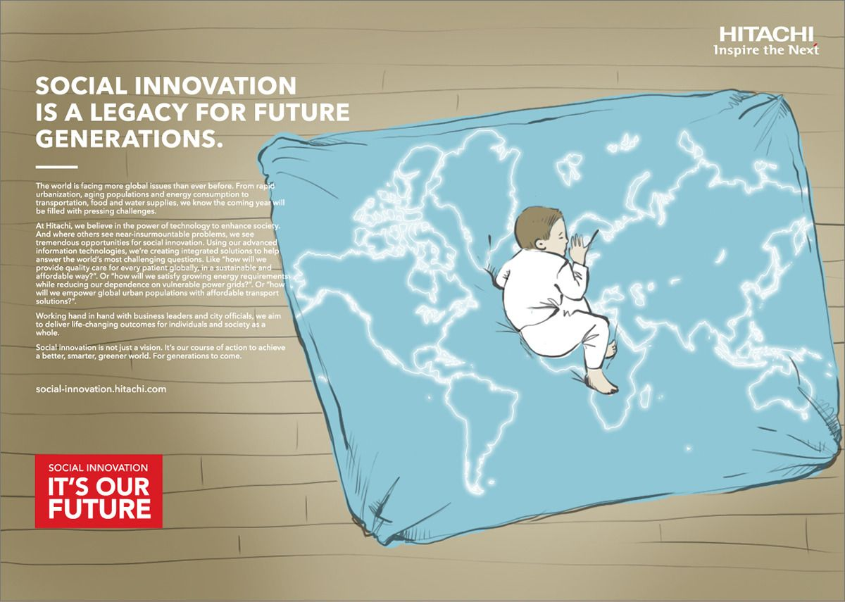 sketch of poster campaign with child on a bed