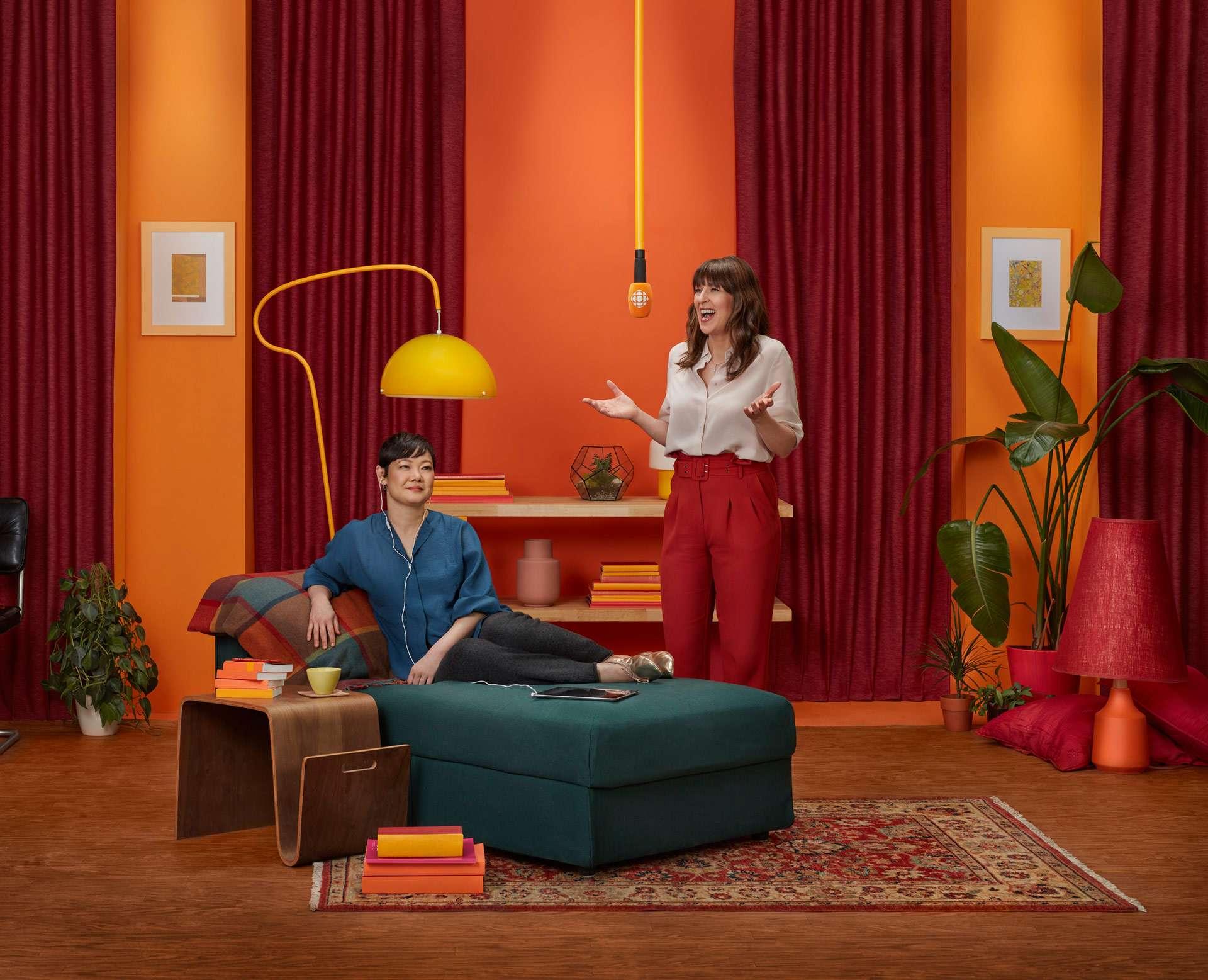 Shooting photo avec Marie-Louise Arsenault par Simon Duhamel pour ICI Première