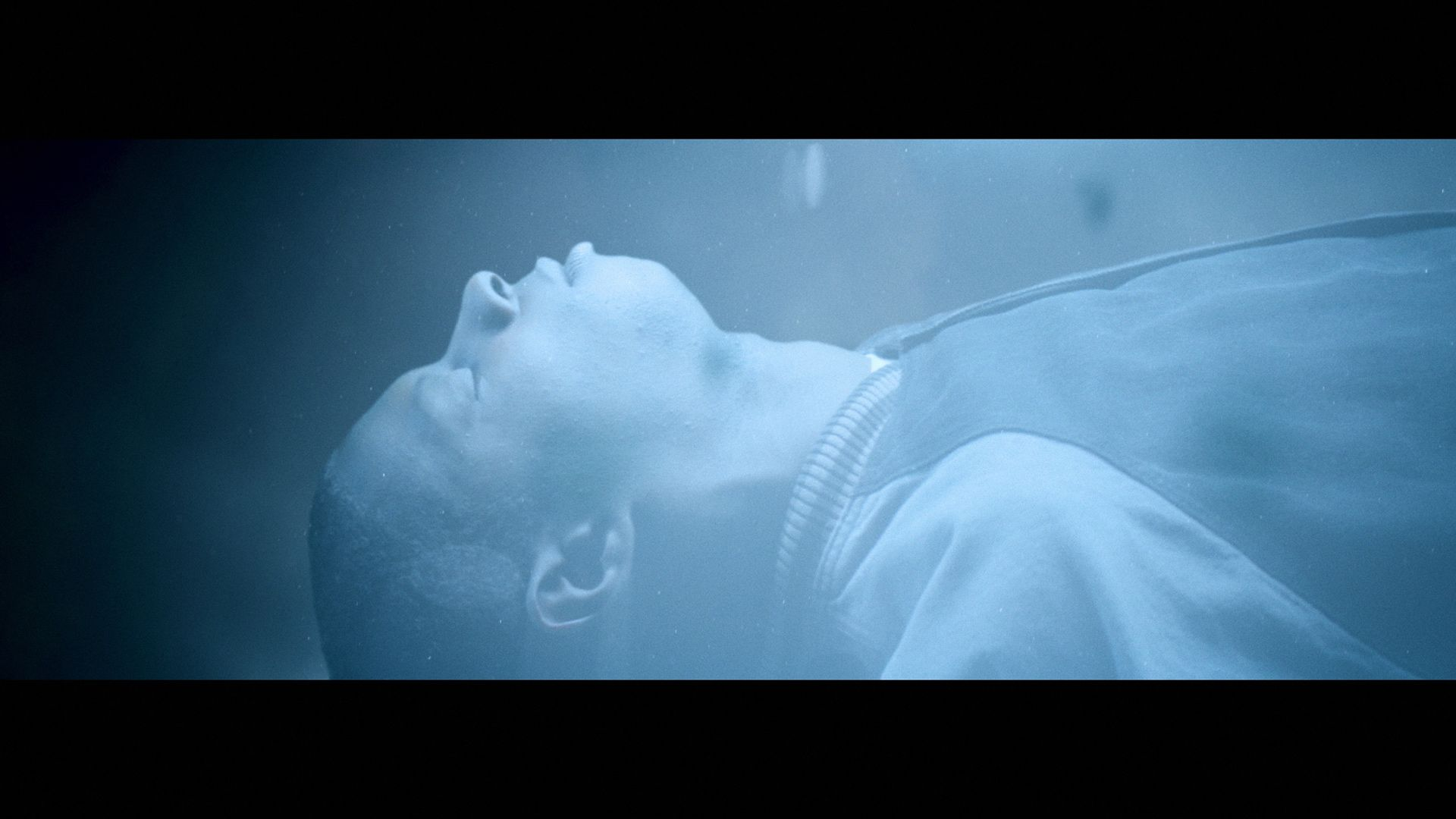 singer Karim Ouellet being abducted by aliens for his music video of Chapter 1 filmed by Les Gamins