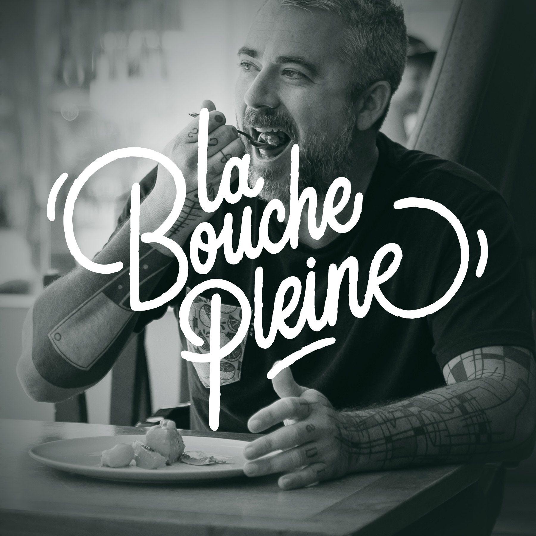 La bouche Pleine podcast logo by Bruno Florin