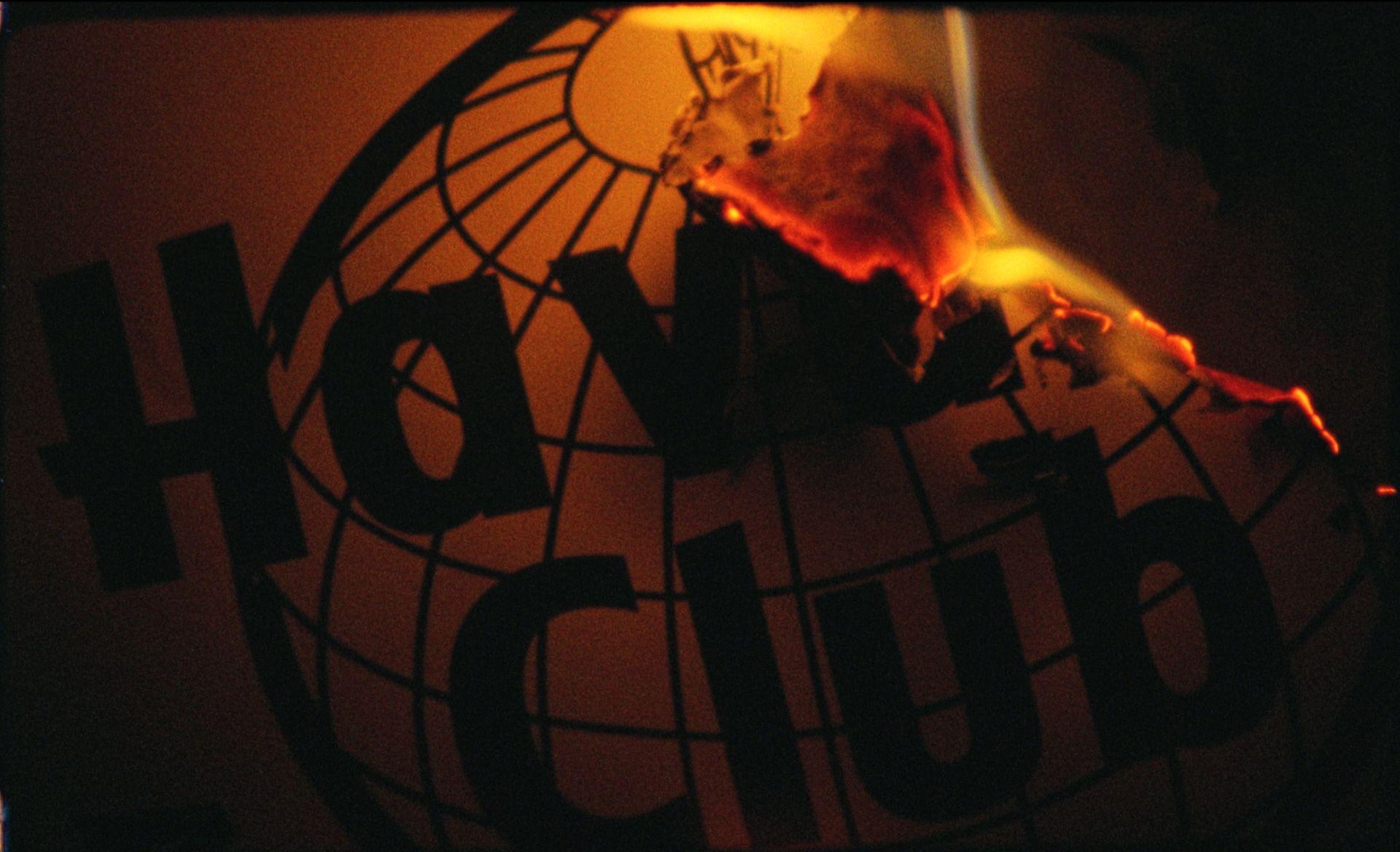 Logo of Havana Club burning.