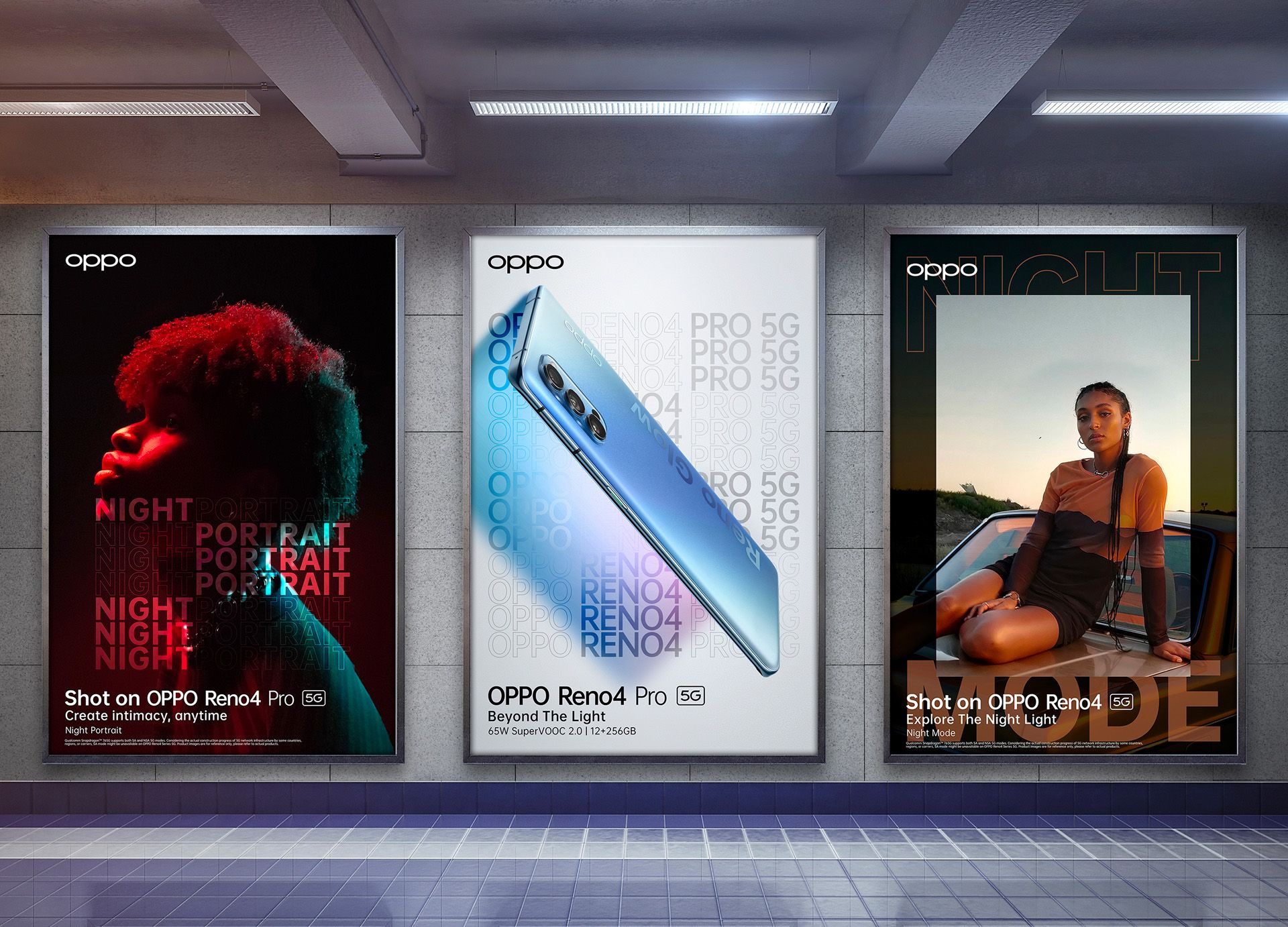 poster campaign Hungry and Foolish for Oppo latest smartphone model photographed and filmed by Simon Duhamel