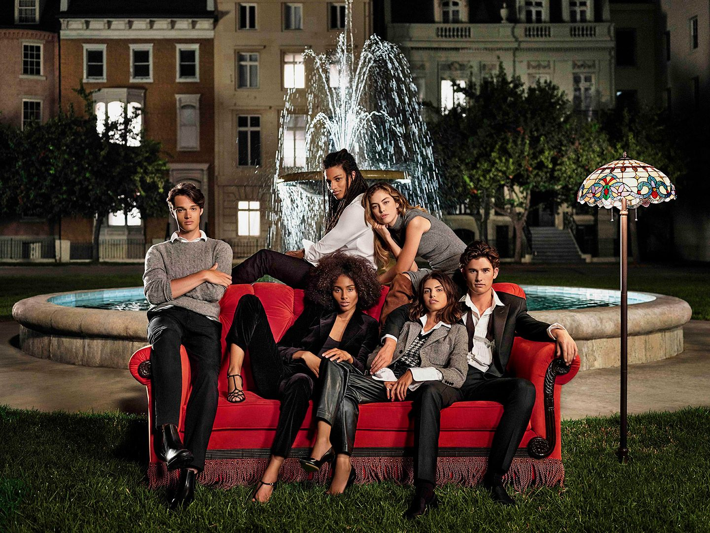 Models wearing Ralph Lauren shot by Maxyme G. Delisle for Ralph Lauren photoshoot inspired by the sitcom FRIENDS