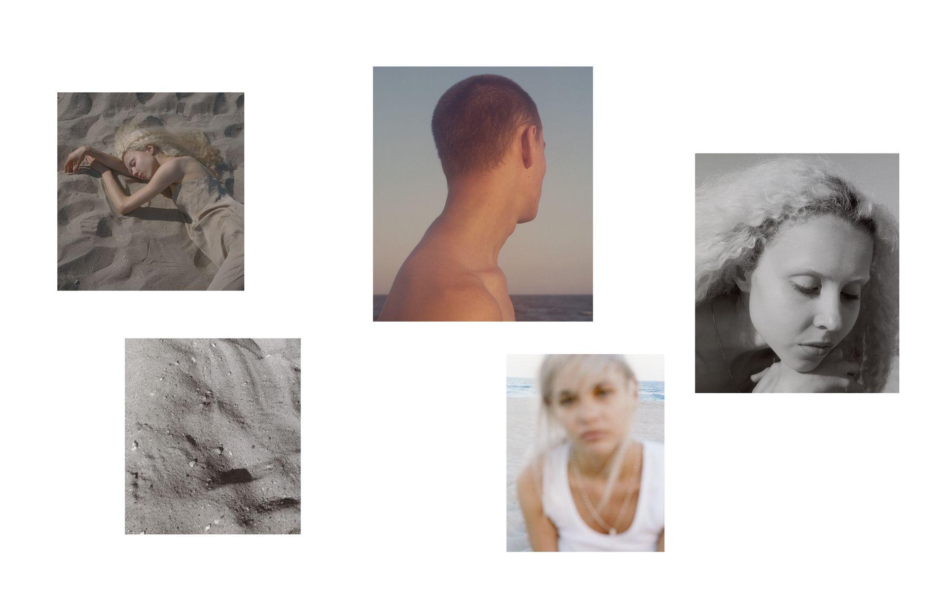 collage d'images du shoot ressemblant à des polaroids par Oumayma B. Tanfous pour DAZED