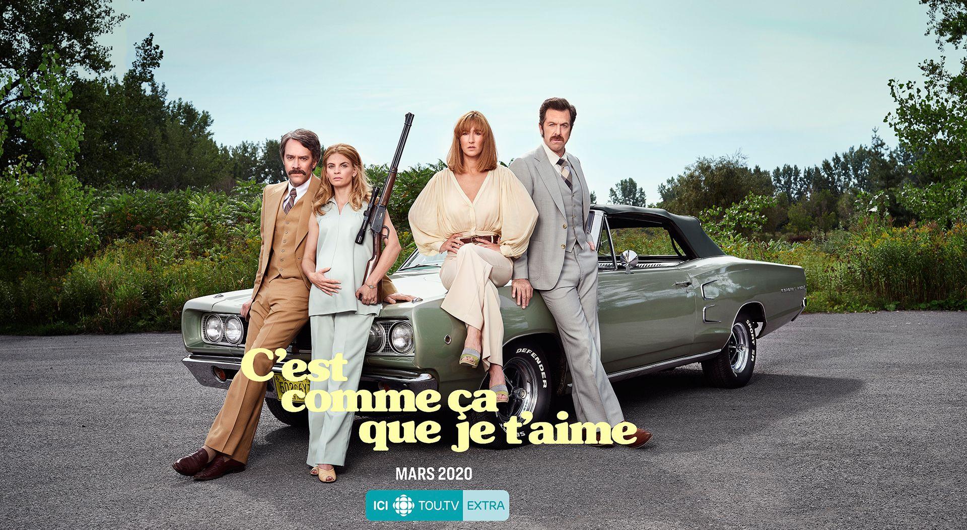 C'est comme ça que je t'aime TV show poster by Jocelyn Michel for Radio-Canada