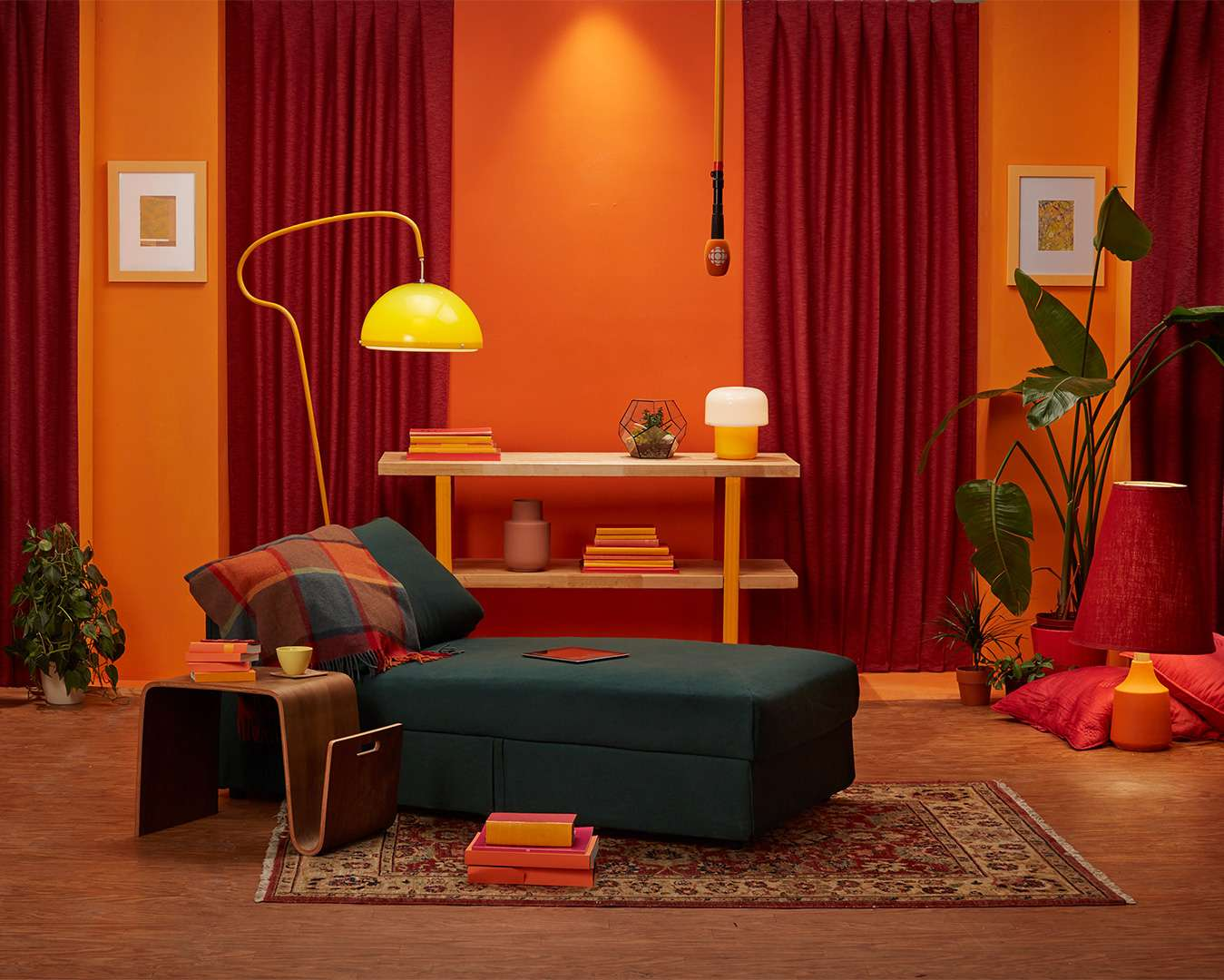 décor de salon de la séance photo de Simon Duhamel pour ICI Première
