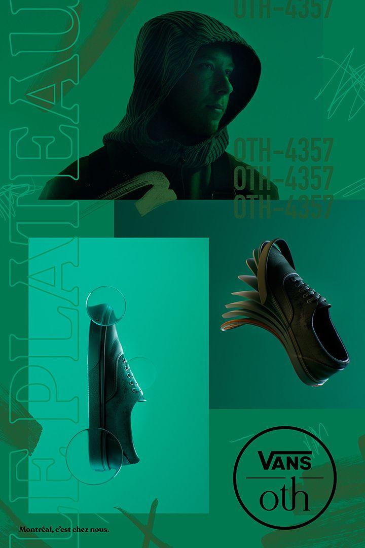 poster pour la campagne 2019 de OTH x VANS inspiré du Plateau de Montréal par Simon Duhamel