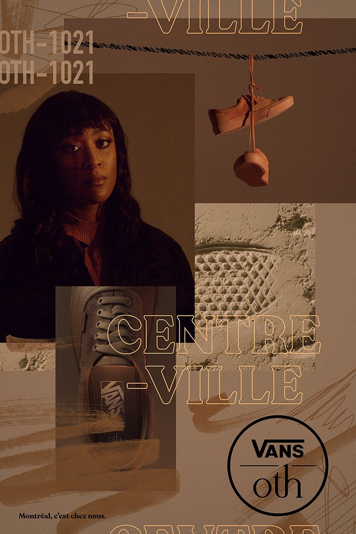 OTH x VANS 2019 campaign poster based on Montreal's city centre by Simon Duhamel