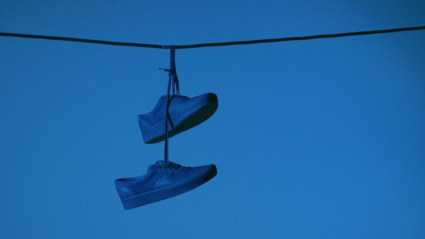 suspended Vans's shoe for OTH x VANS by Simon Duhamel