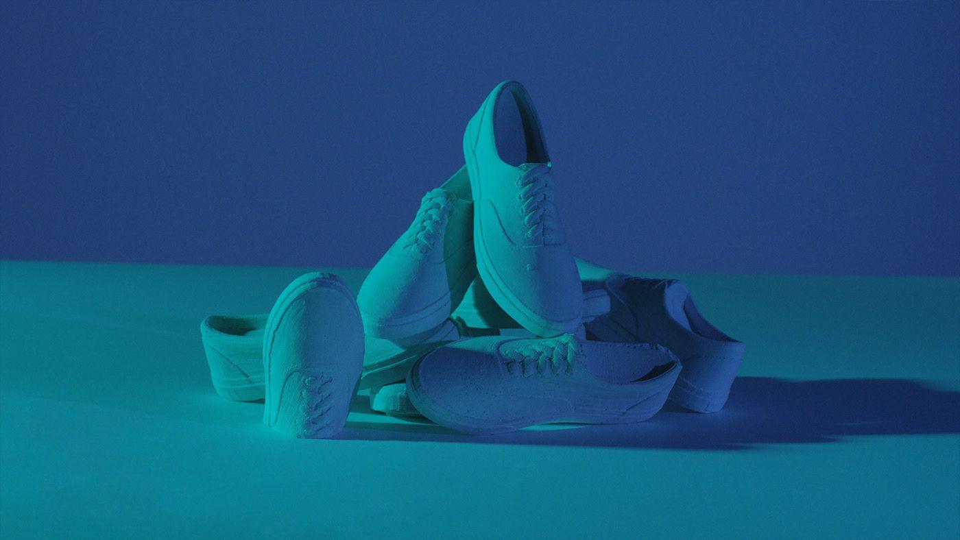 Concrete Vans shoes for the OTH x VANS 2019 campaign by Simon Duhamel