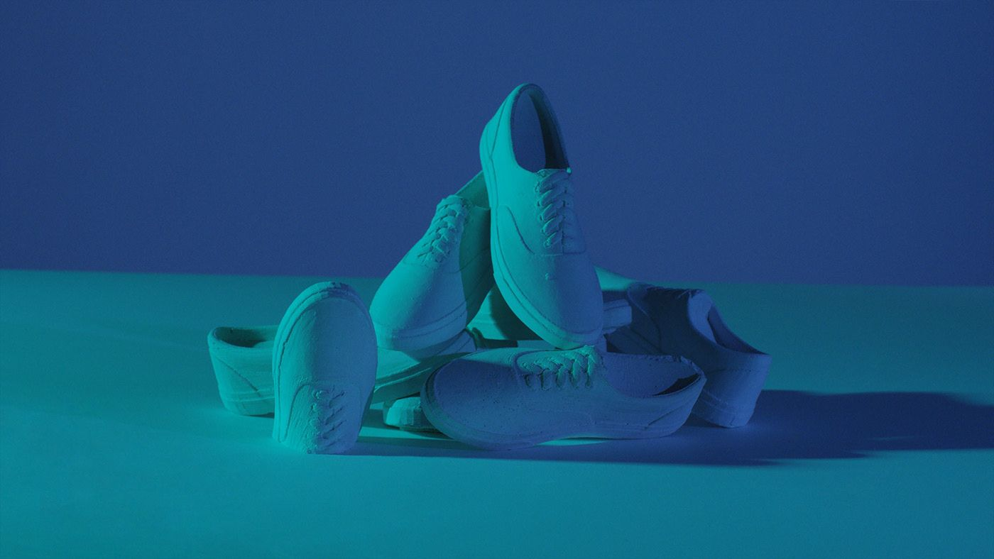 chaussures Vans en béton pour la campagne 2019 de OTH x VANS par Simon Duhamel