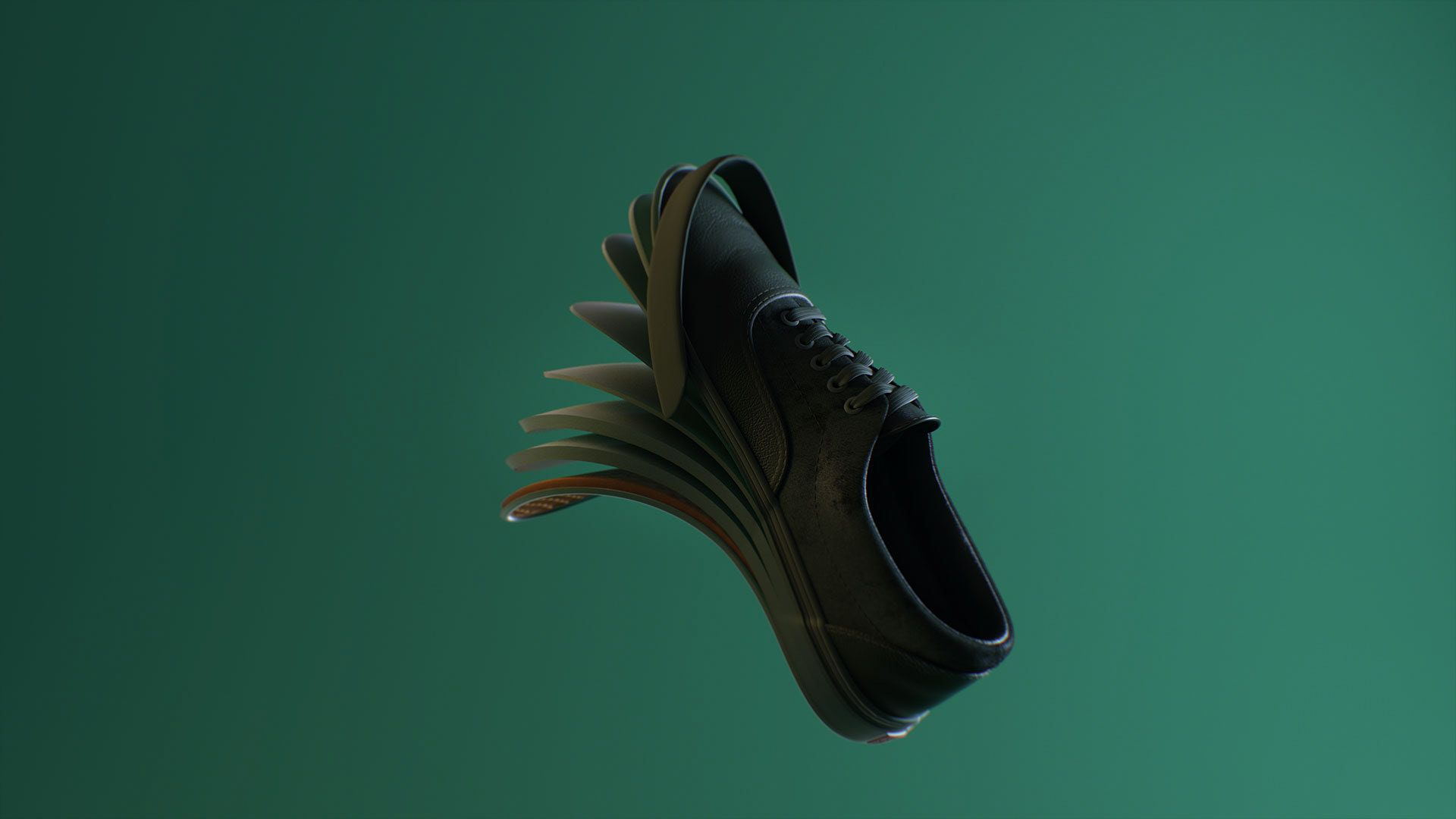 layers of a Vans shoe for the OTH x VANS 2019 campaign by Simon Duhamel