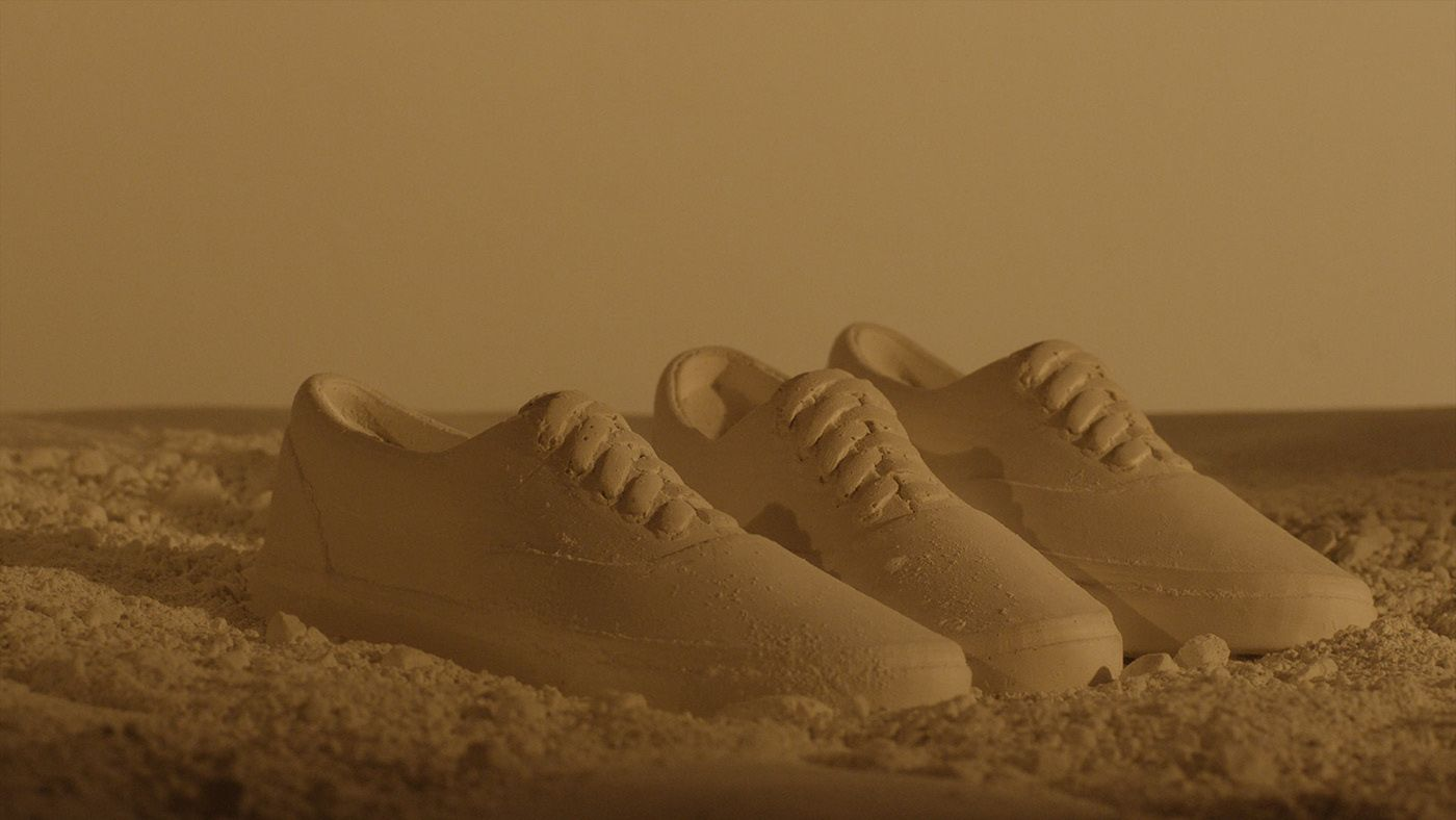shoes in dirt by Simon Duhamel for Vans x OTH with Ogilvy