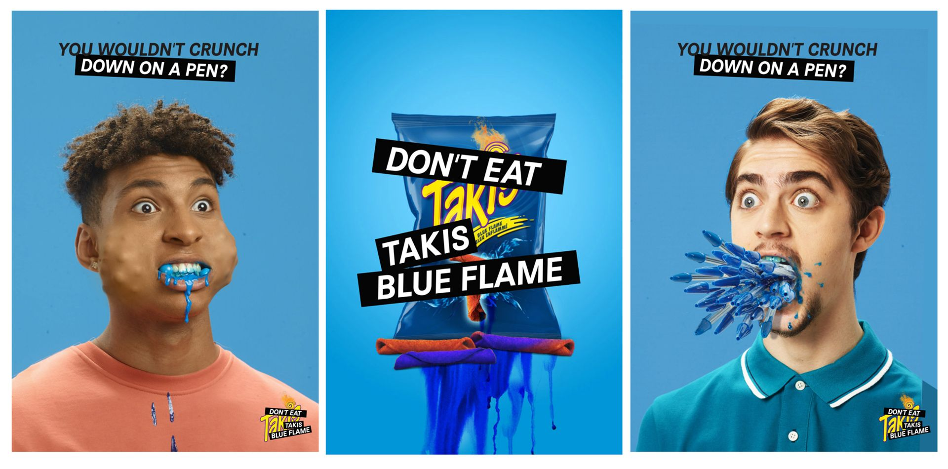 Simon Duhamel's campaign for Takis Blue Flame with Cossette