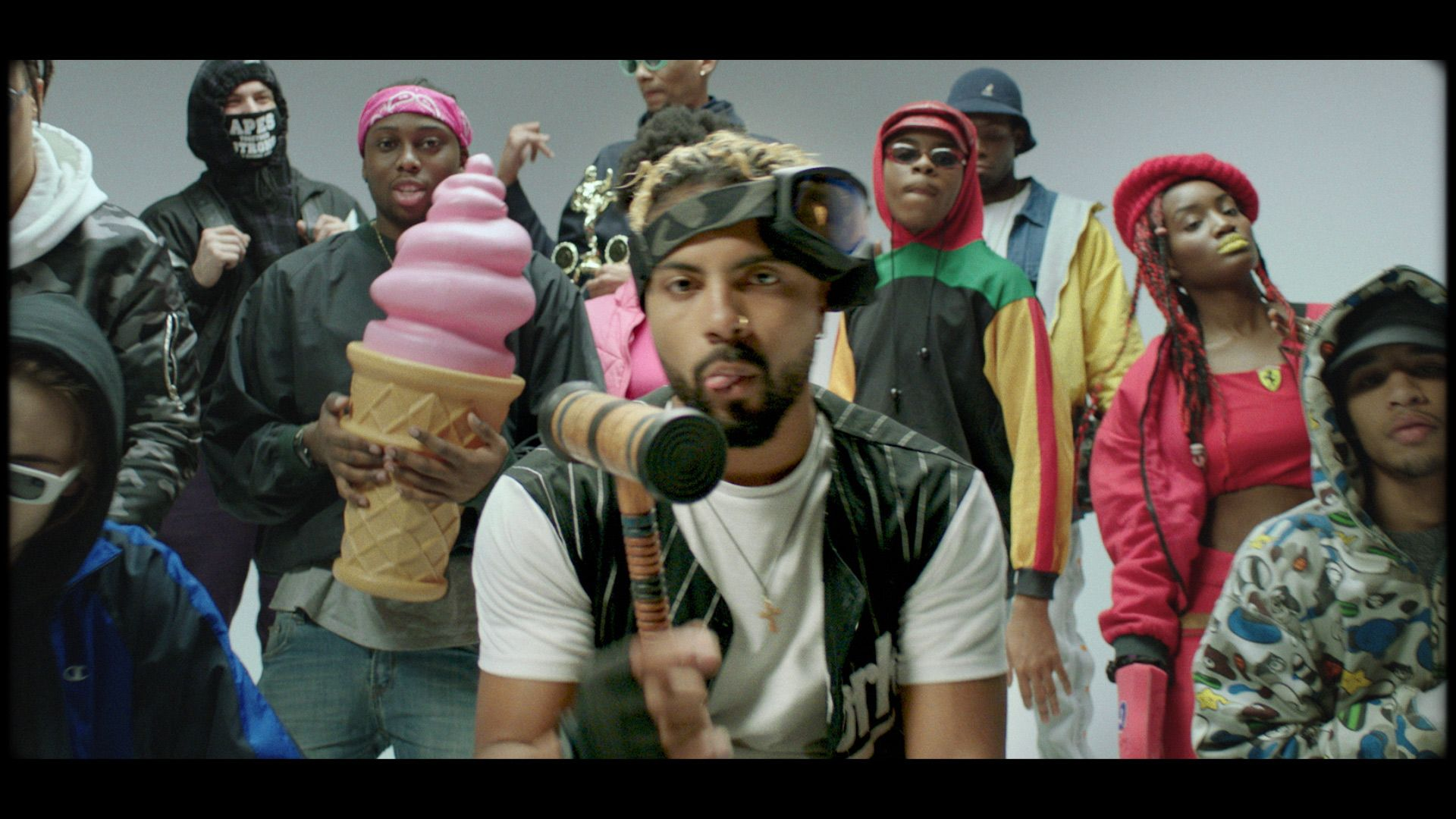 group of black people dancing for rapper Zach Zoya in music video Who Dat filmed by Les Gamins